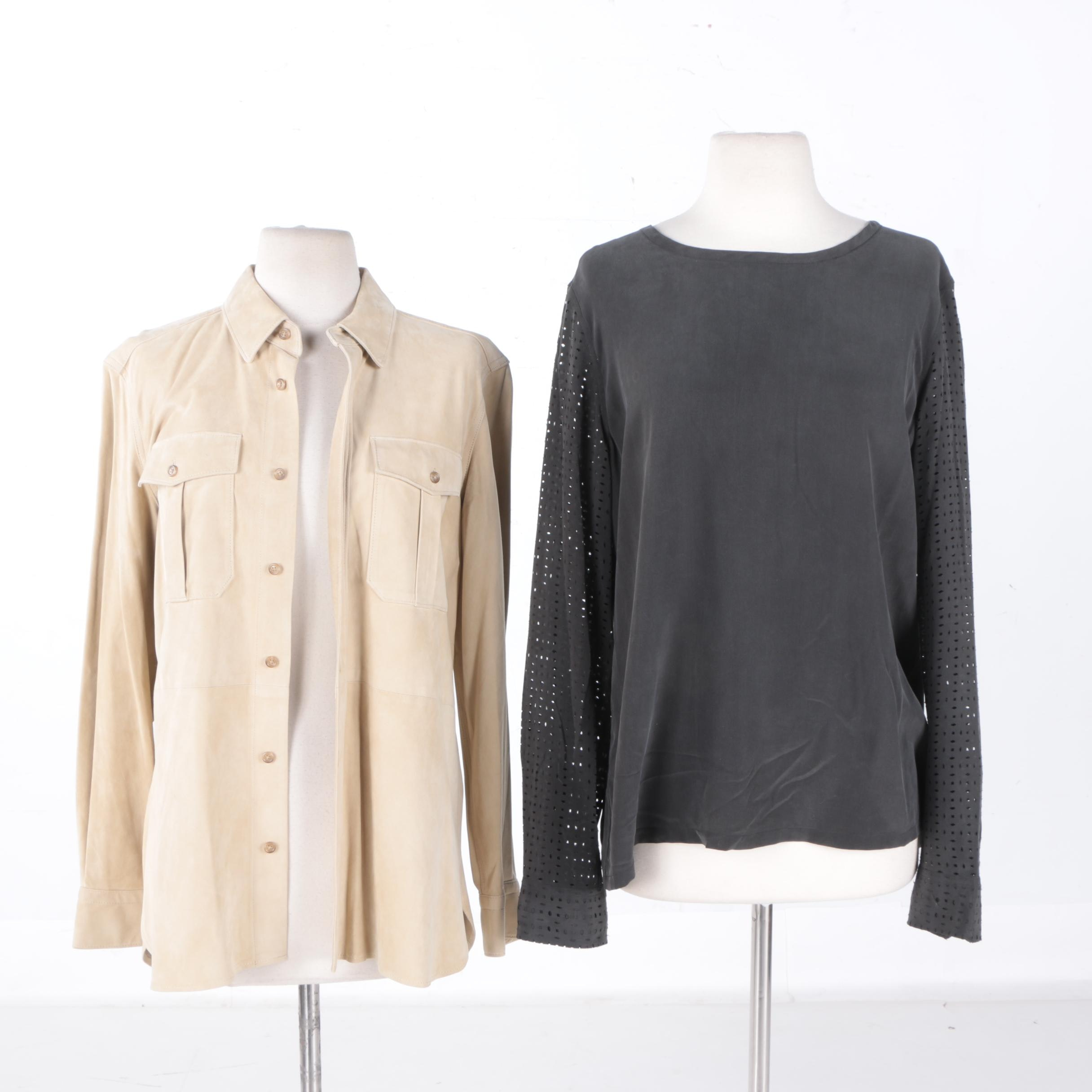 Two Women's Shirts Including Ralph Lauren