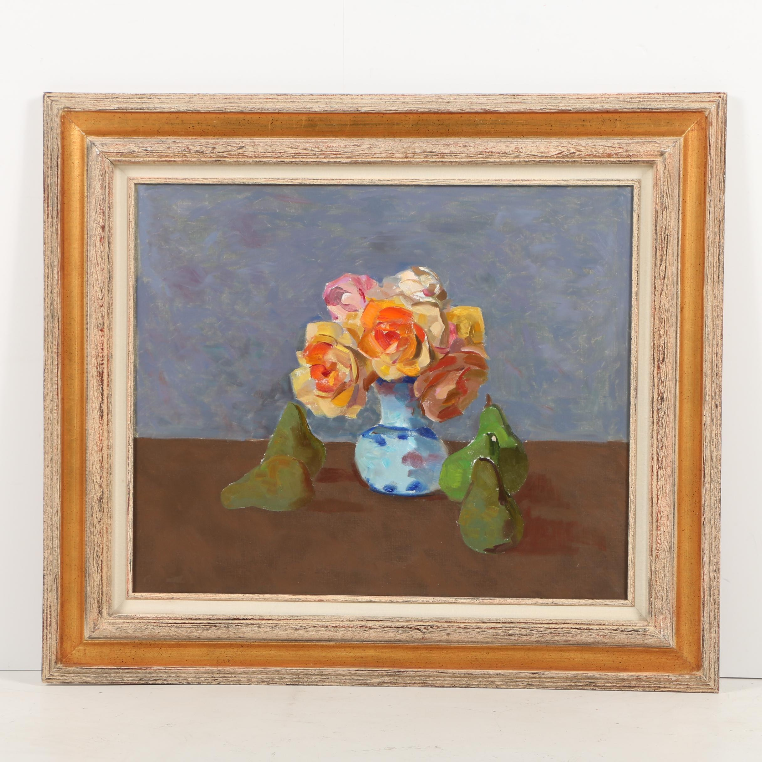 Oil Painting on Canvas of a Floral Still Life
