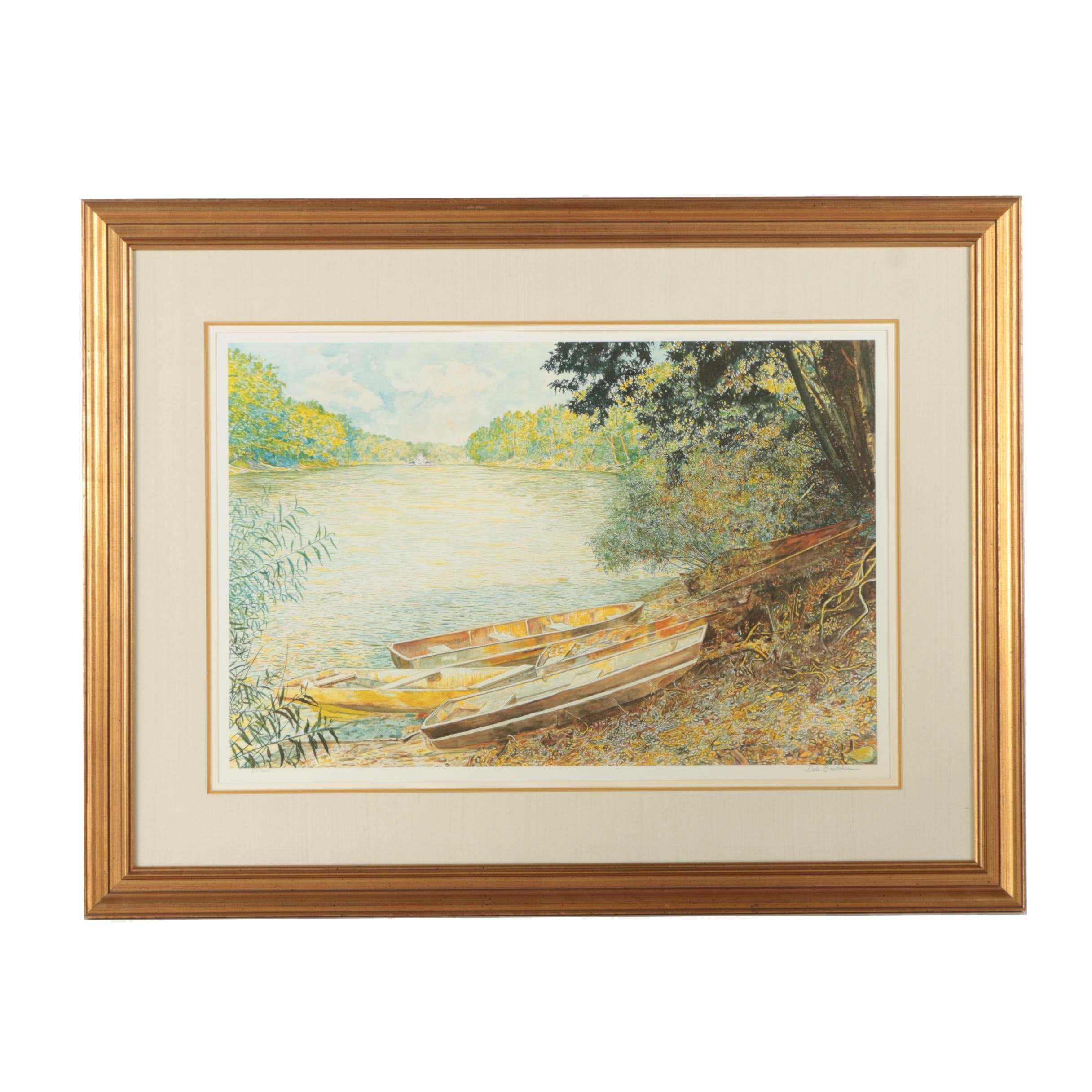 "Dale Bratcher Limited Edition Offset Lithograph Print ""Summer on the River"""