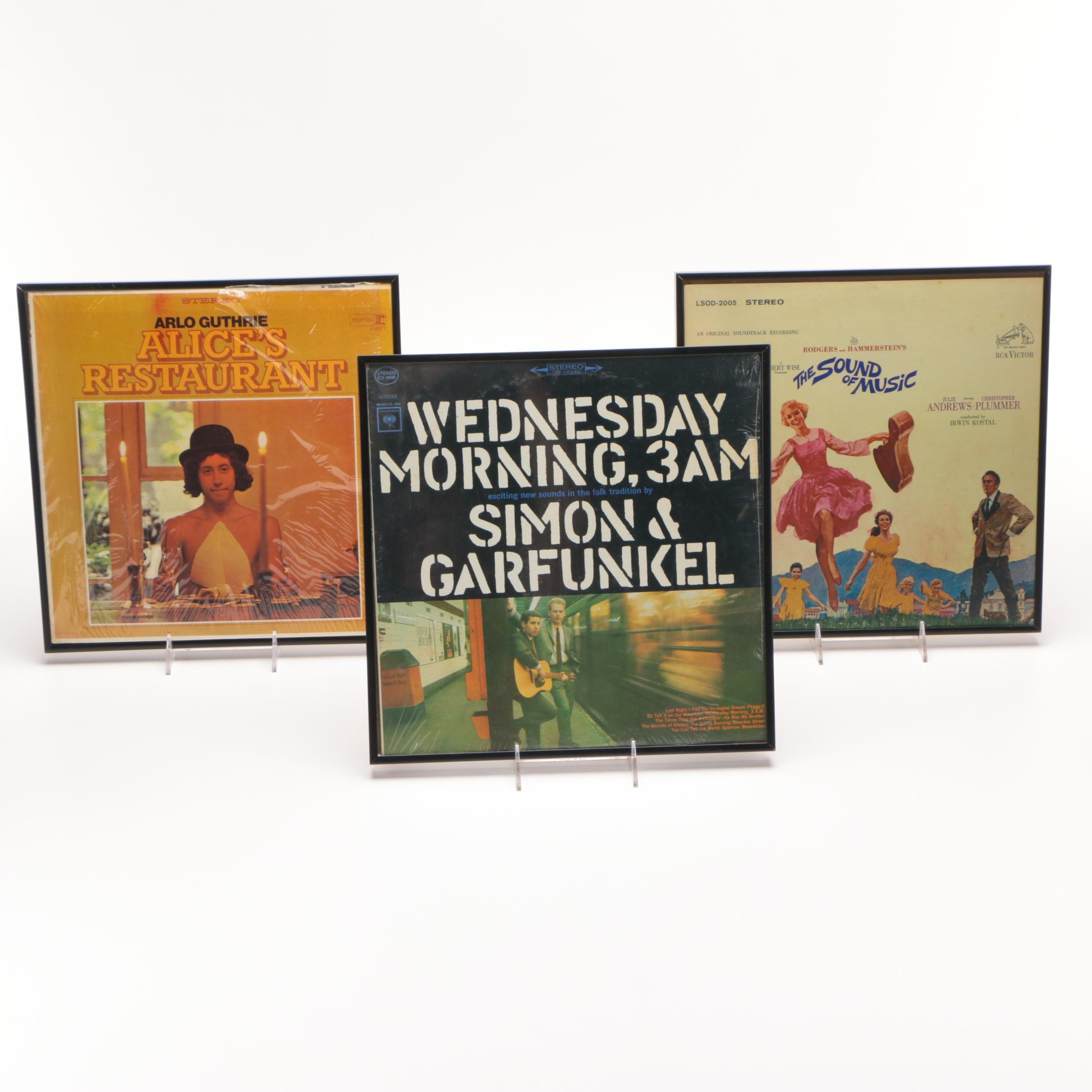 Three Framed Vinyl Record Covers