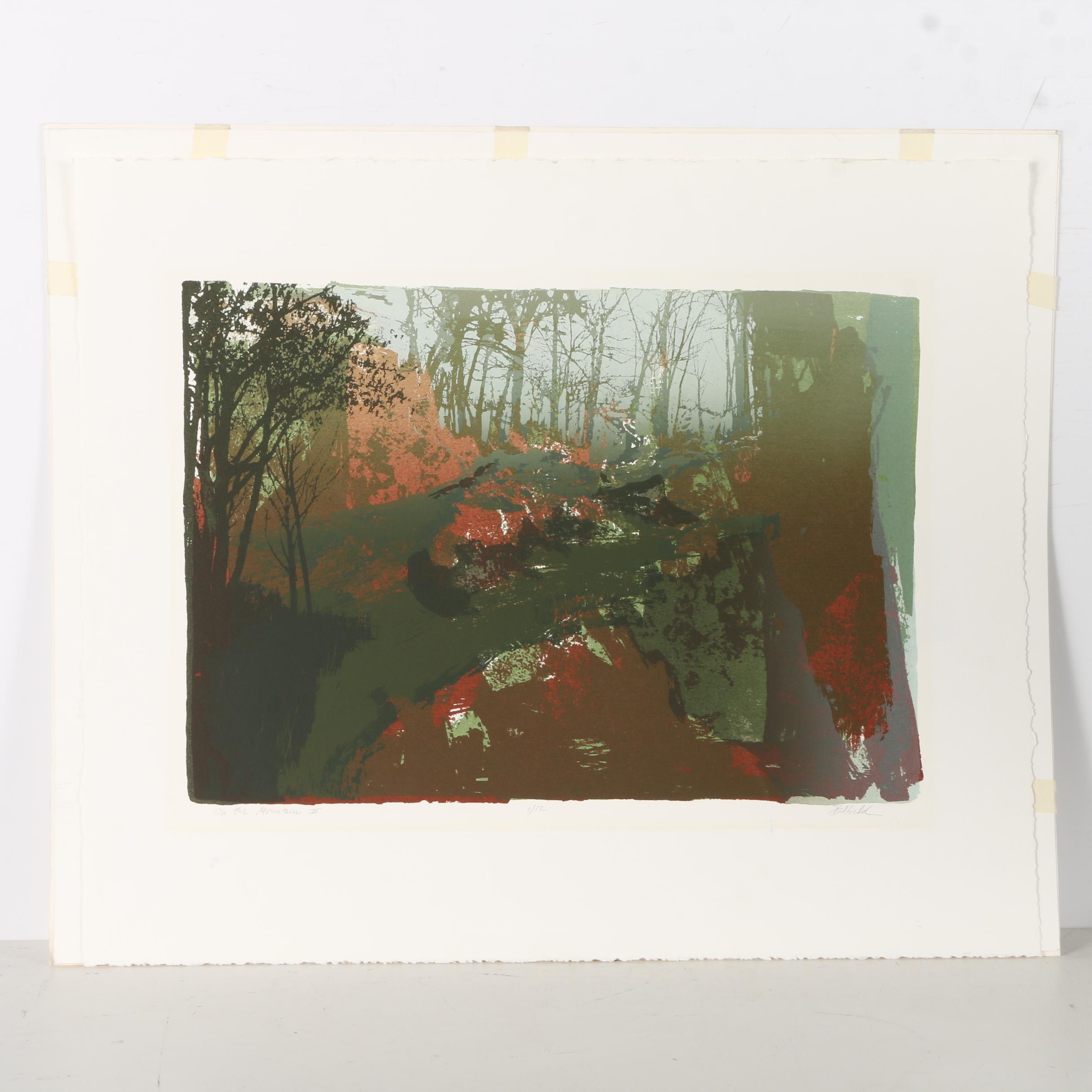 "Belfield Limited Edition Serigraph ""On the Mountain II"""