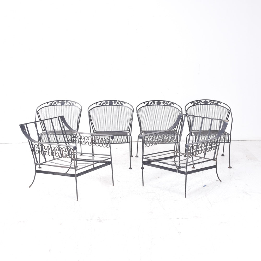 Collection of Metal Patio Chairs
