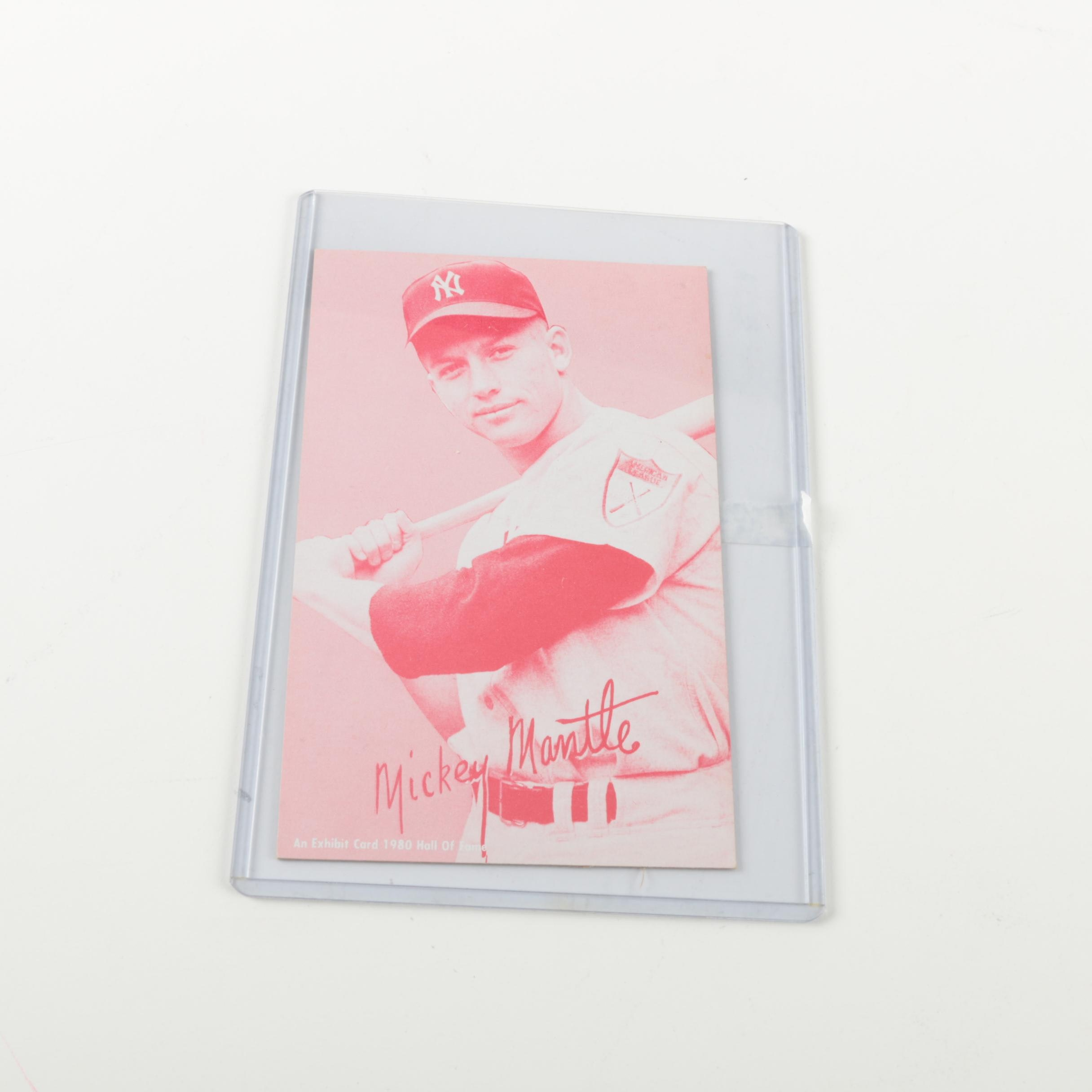 1980 Hall of Fame Mickey Mantle Exhibit Card