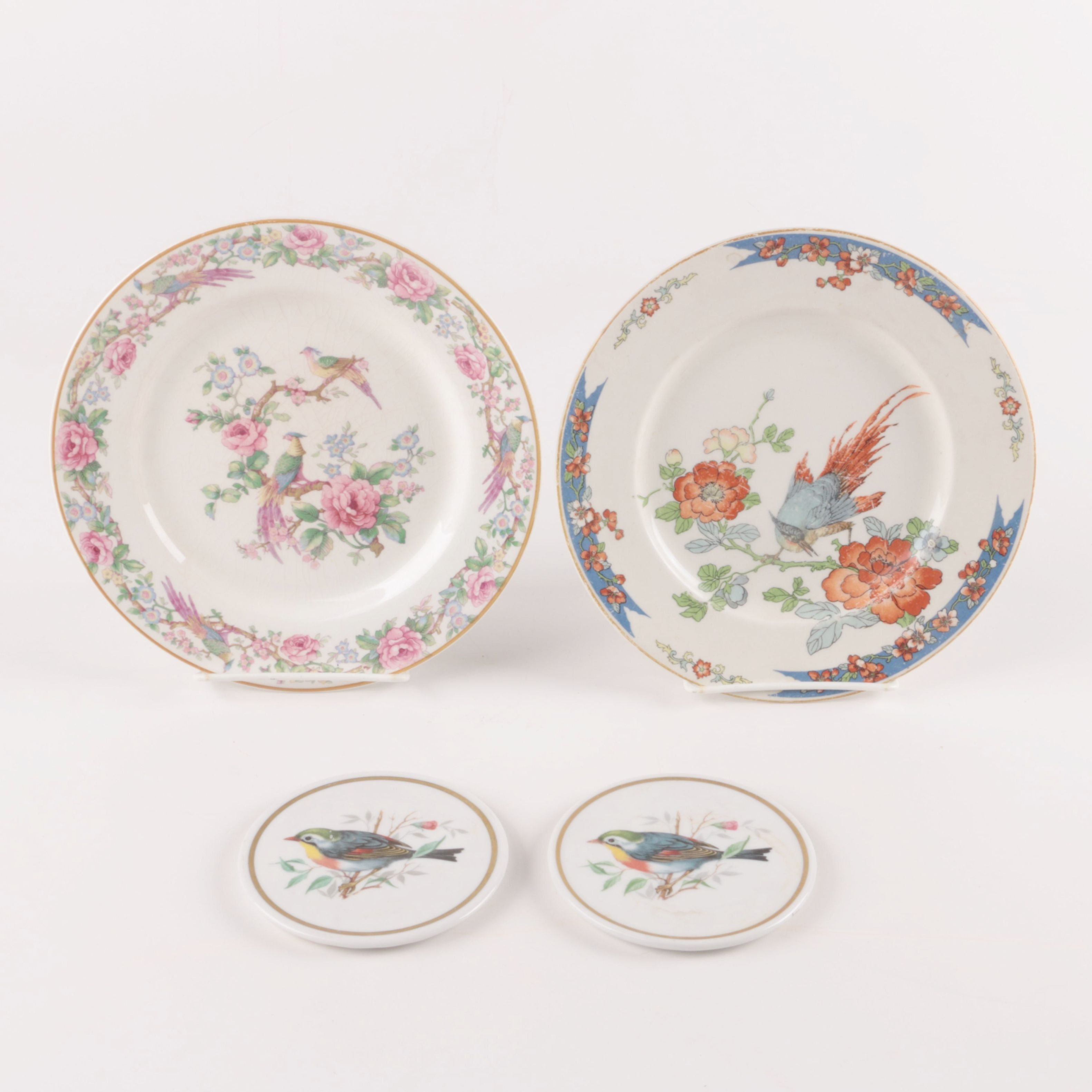Floral Ceramic Plates and Coasters