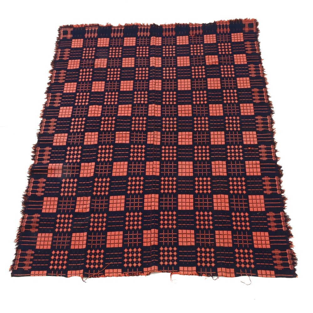 Antique Hand Loomed Coverlet