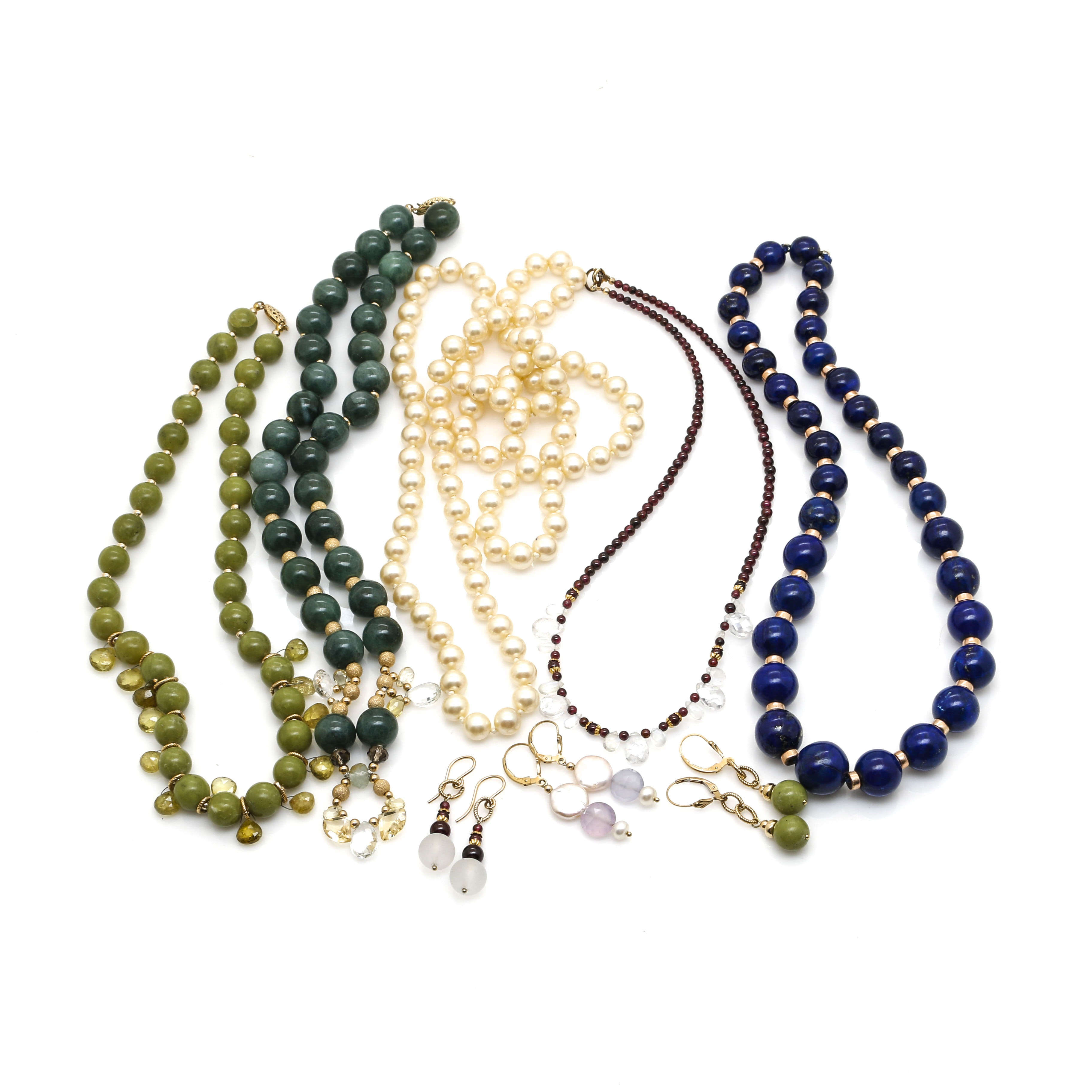 Assortment of Gold Filled and Beaded Costume Jewelry