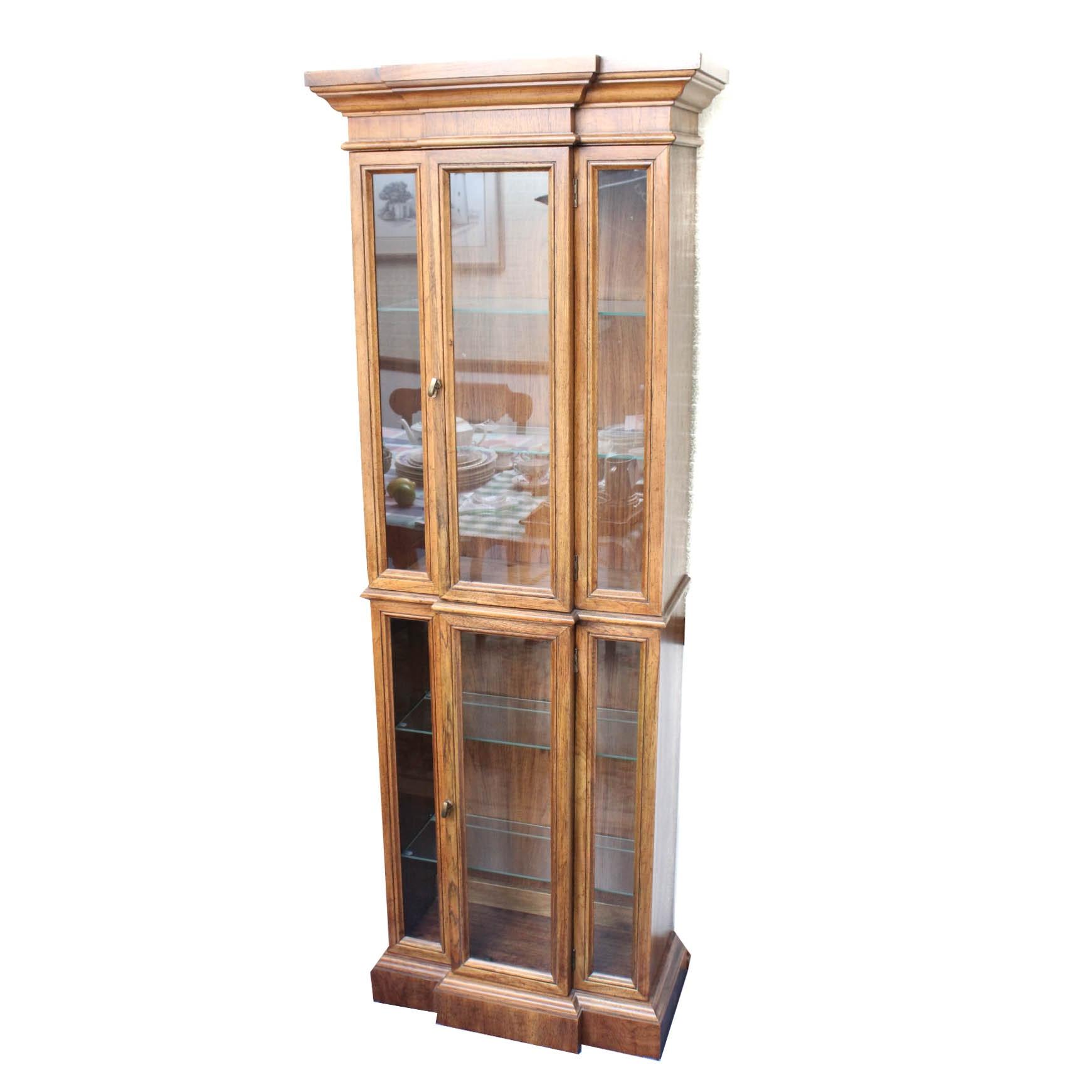 Wood Framed Glass Display Cabinet