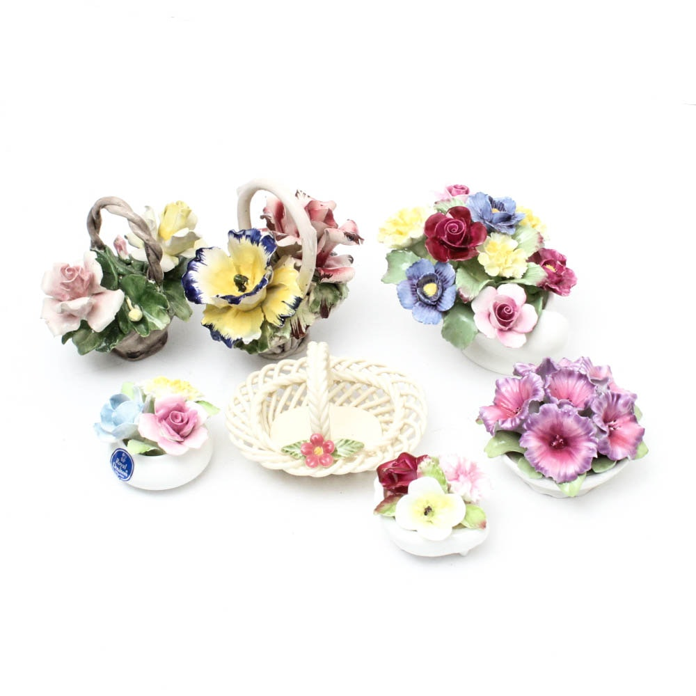 Floral Porcelain Figurines Featuring Royal Doulton