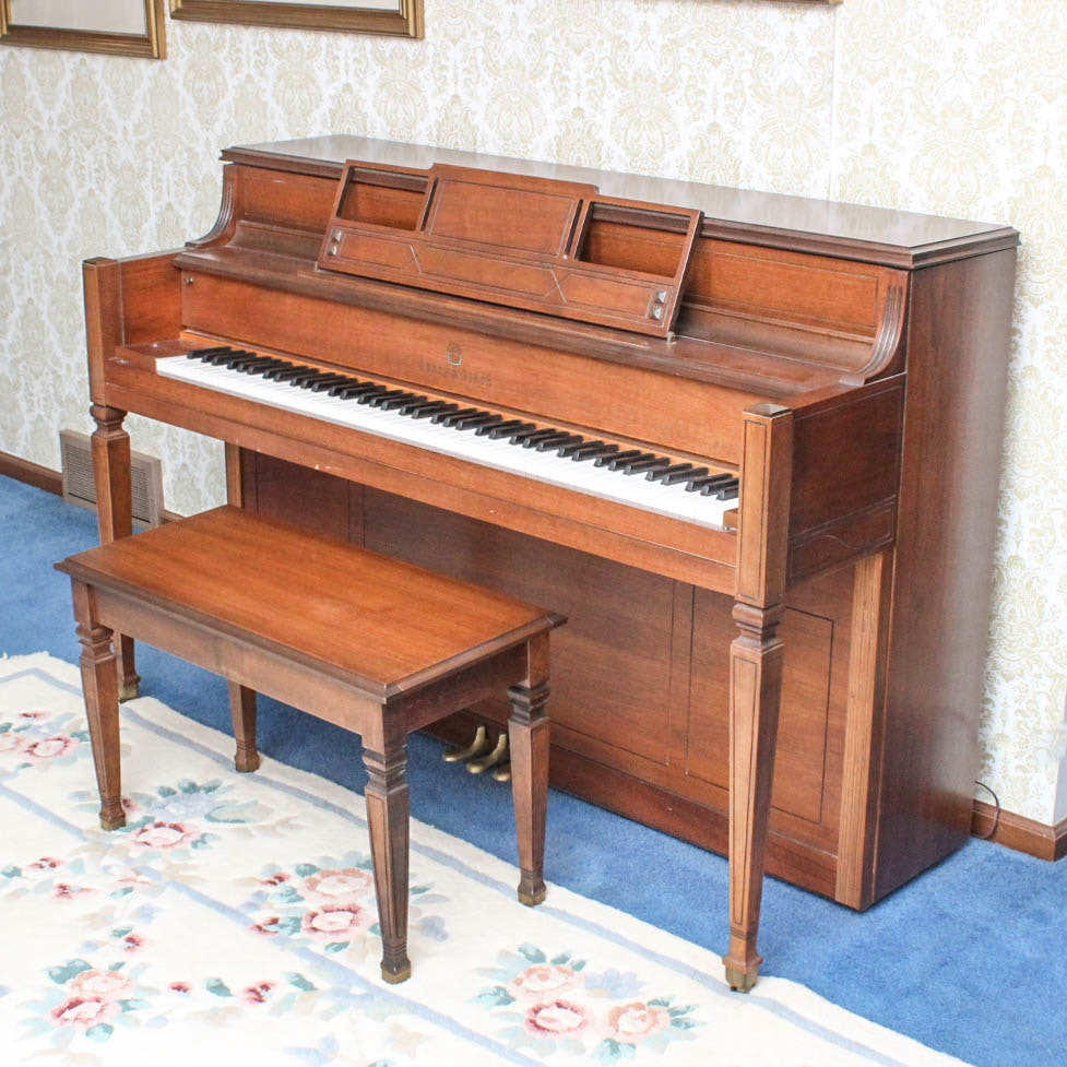 Story & Clark Oak Console Piano and Bench