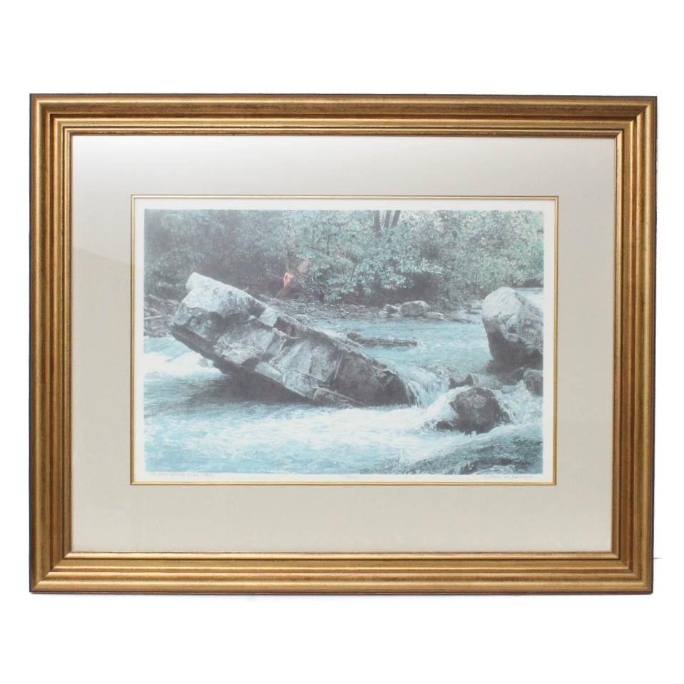 "William McNamara Offset Lithograph Print ""Upper Buffalo River"""