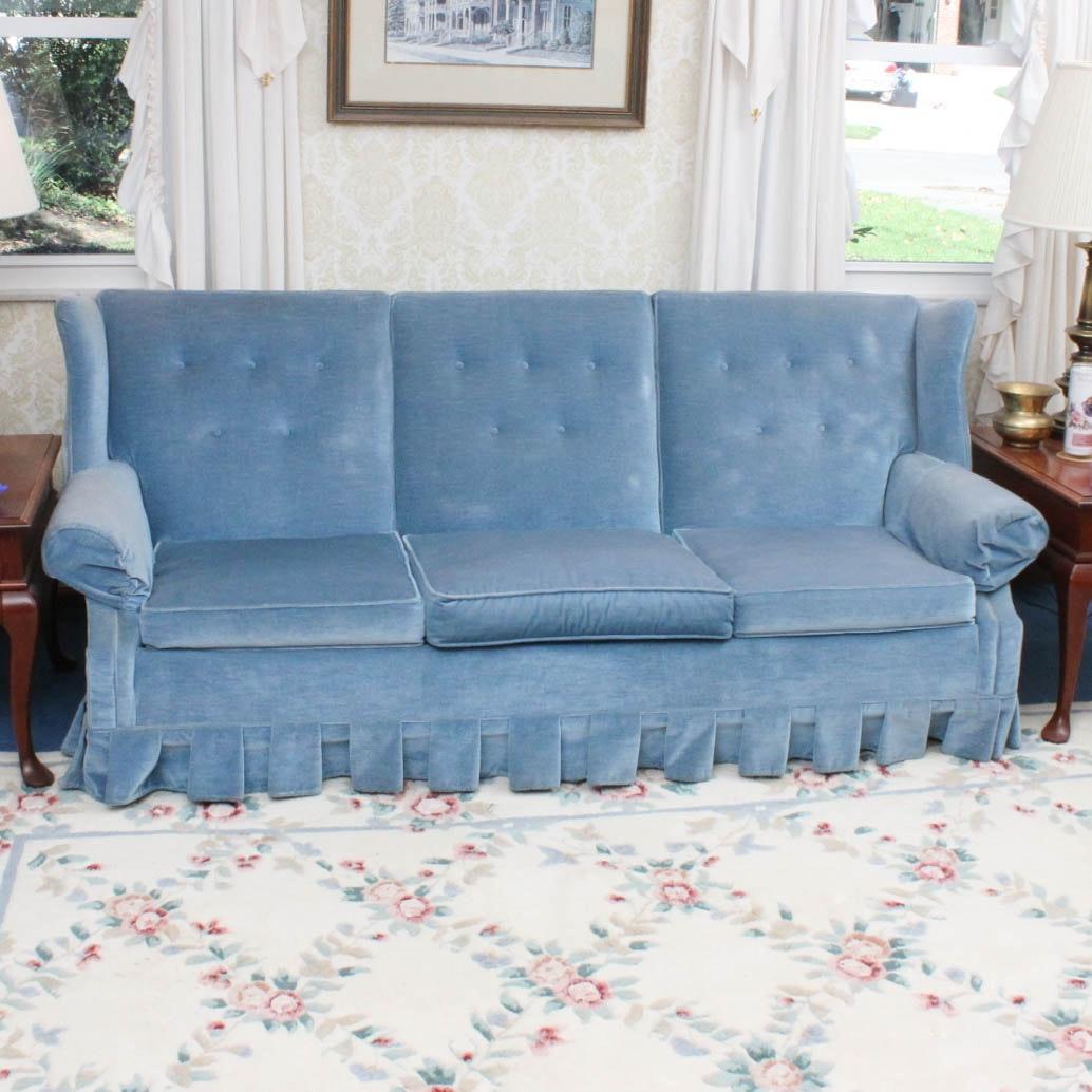 Vintage Velvet Sofa by Franklin Furniture Company