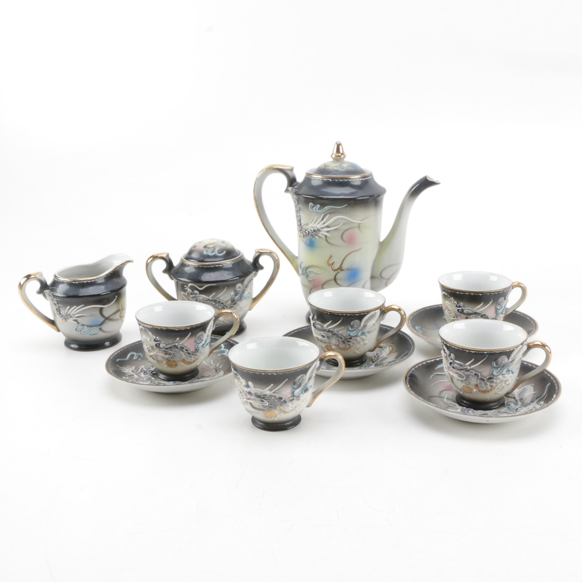 Japanese Dragon Motif Porcelain Tea Service