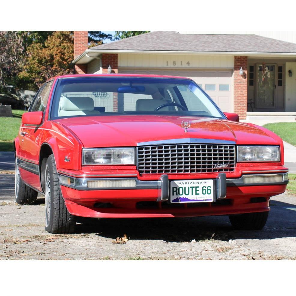 1990 Red Cadillac Eldorado Coupe