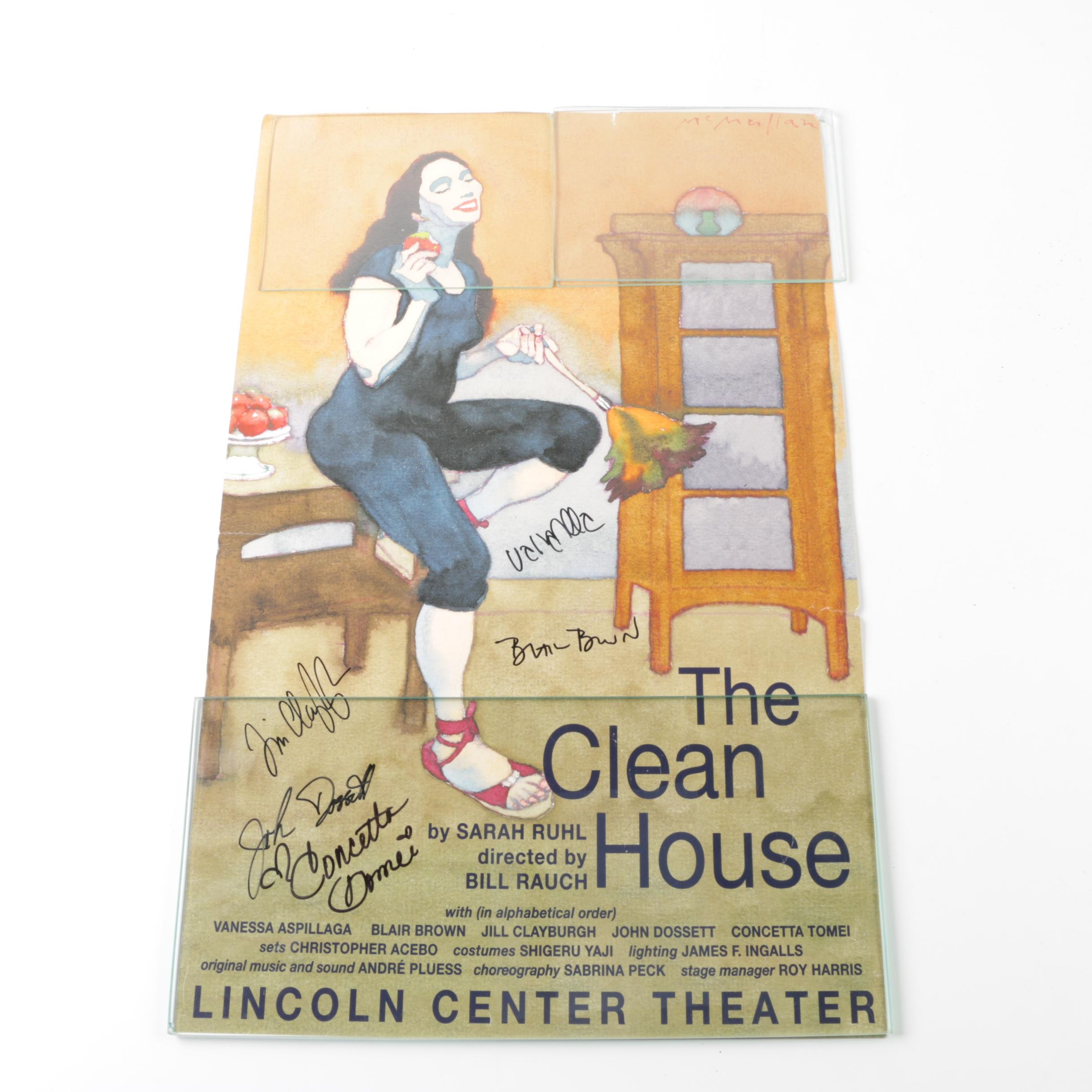 """The Clean House"" at the Lincoln Center Theater Cast Member Signed Poster"