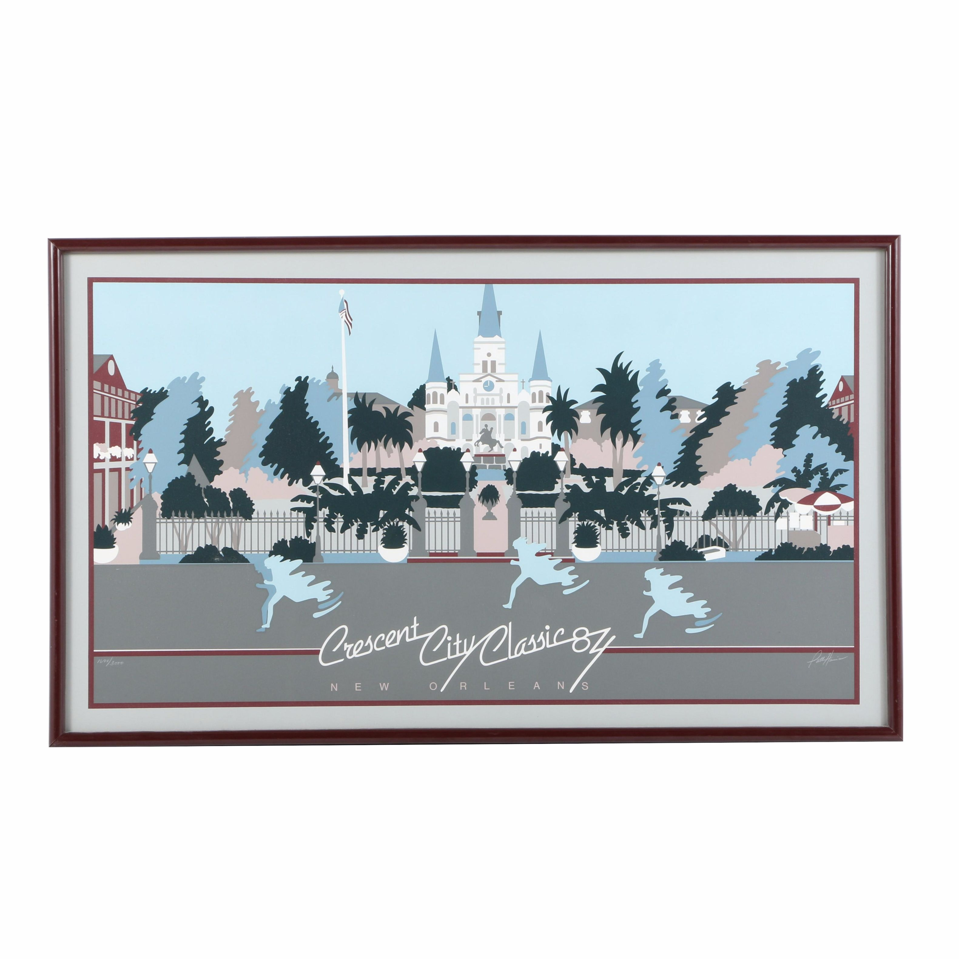 "Patti Harris Limited Edition Serigraph ""Crescent City Classic"""