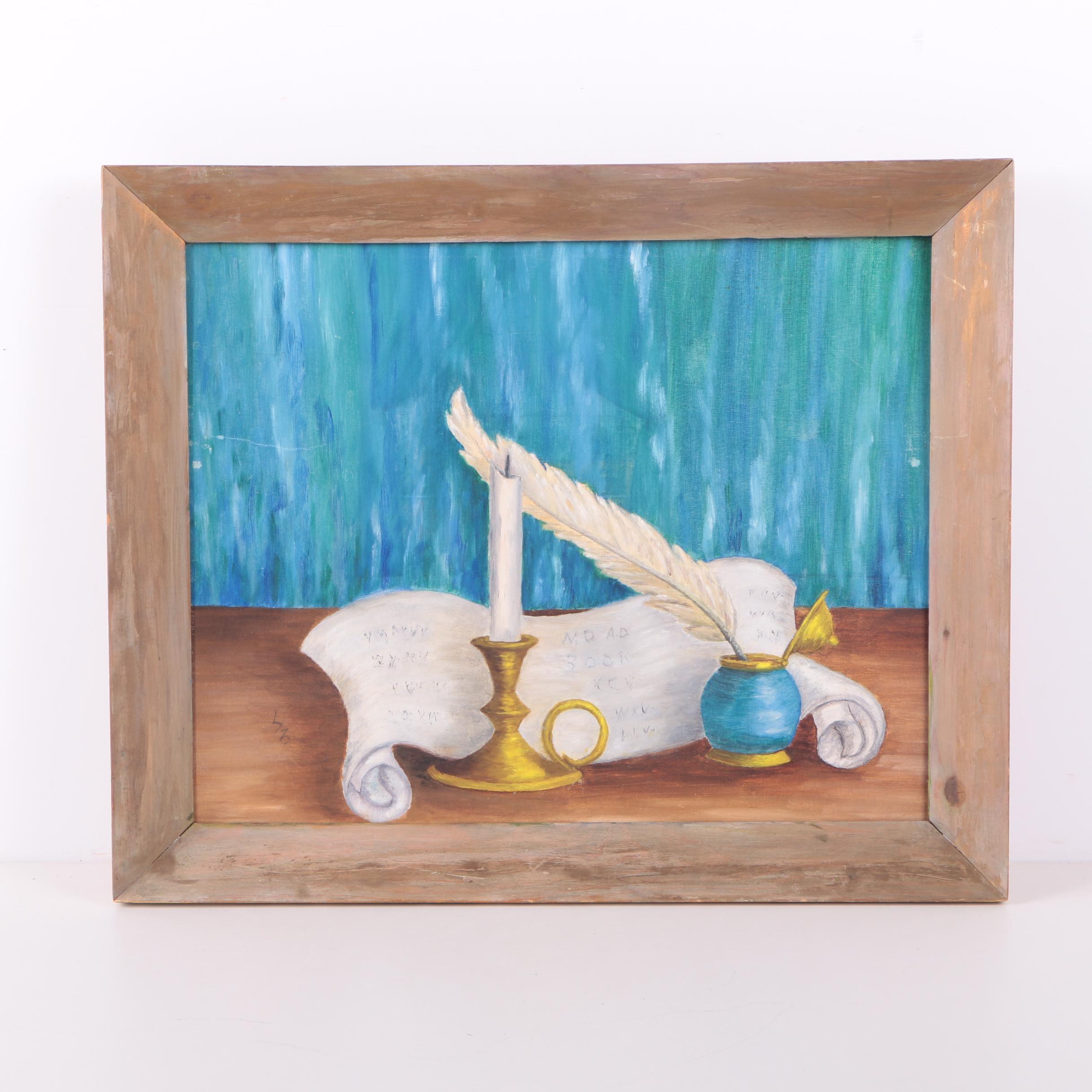 "Lee Ella Oil on Canvas Board ""Enlightenment"""