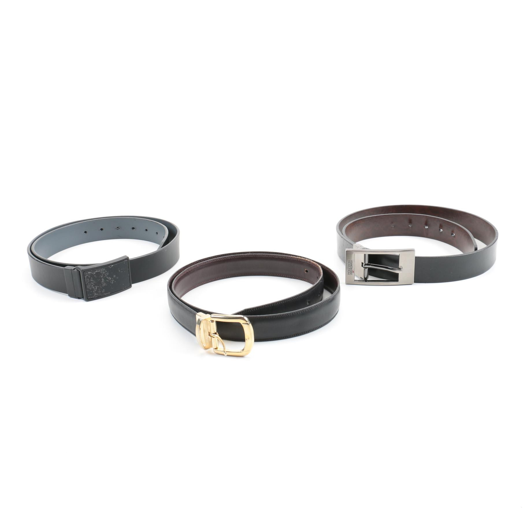 Leather Belts featuring Kenneth Cole and Perry Ellis