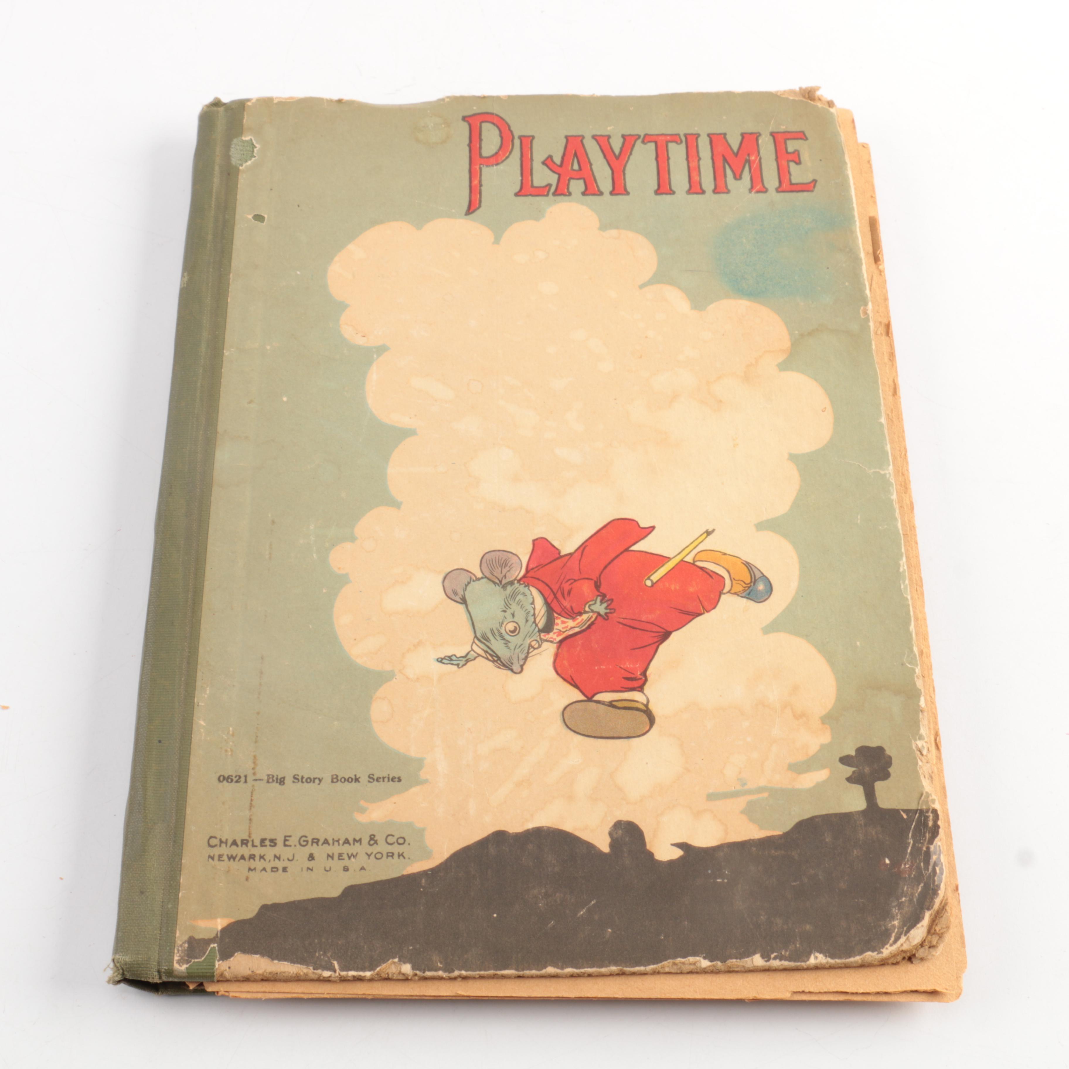 "Circa 1900 Children's Book ""Playtime"""