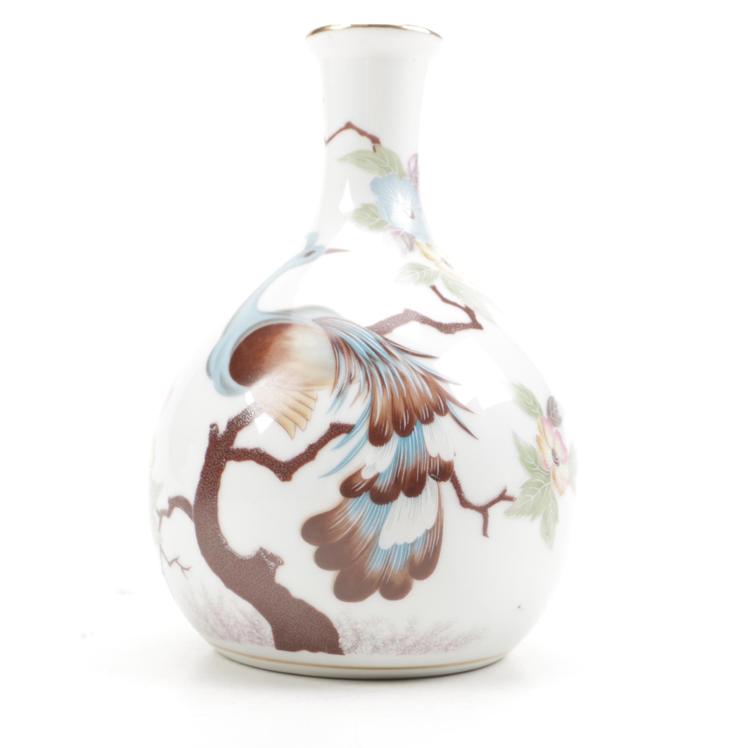 Shafford Company Peacock Vase