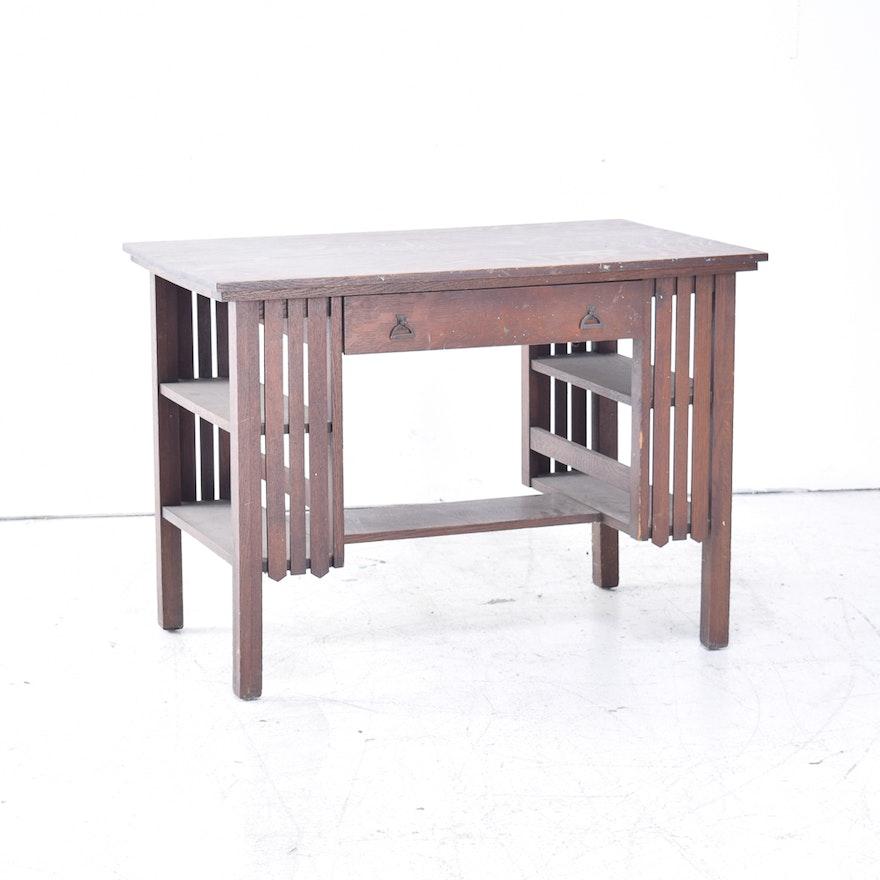 Antique Mission Oak Desk ... - Antique Mission Oak Desk : EBTH