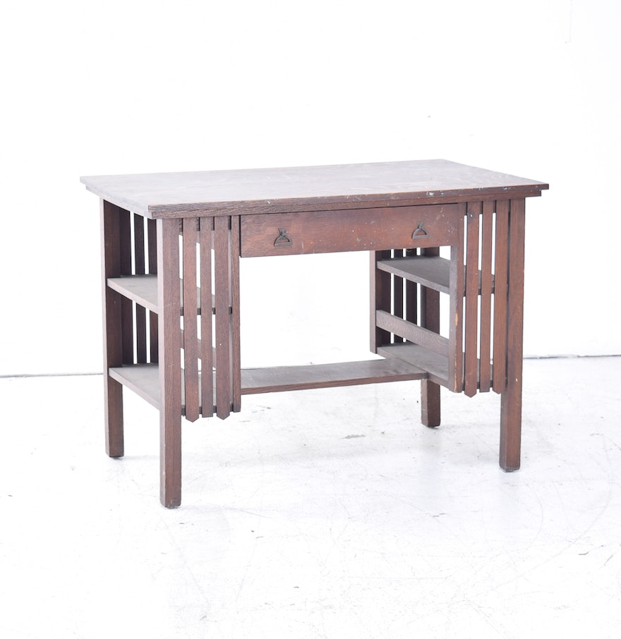 Antique Mission Oak Desk ... - Antique Mission Oak Desk : EBTH
