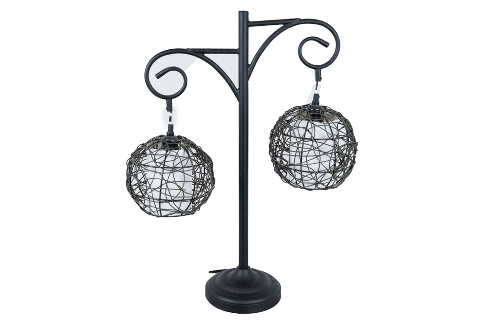 Contemporary Accent Lamp with Hanging Pendants