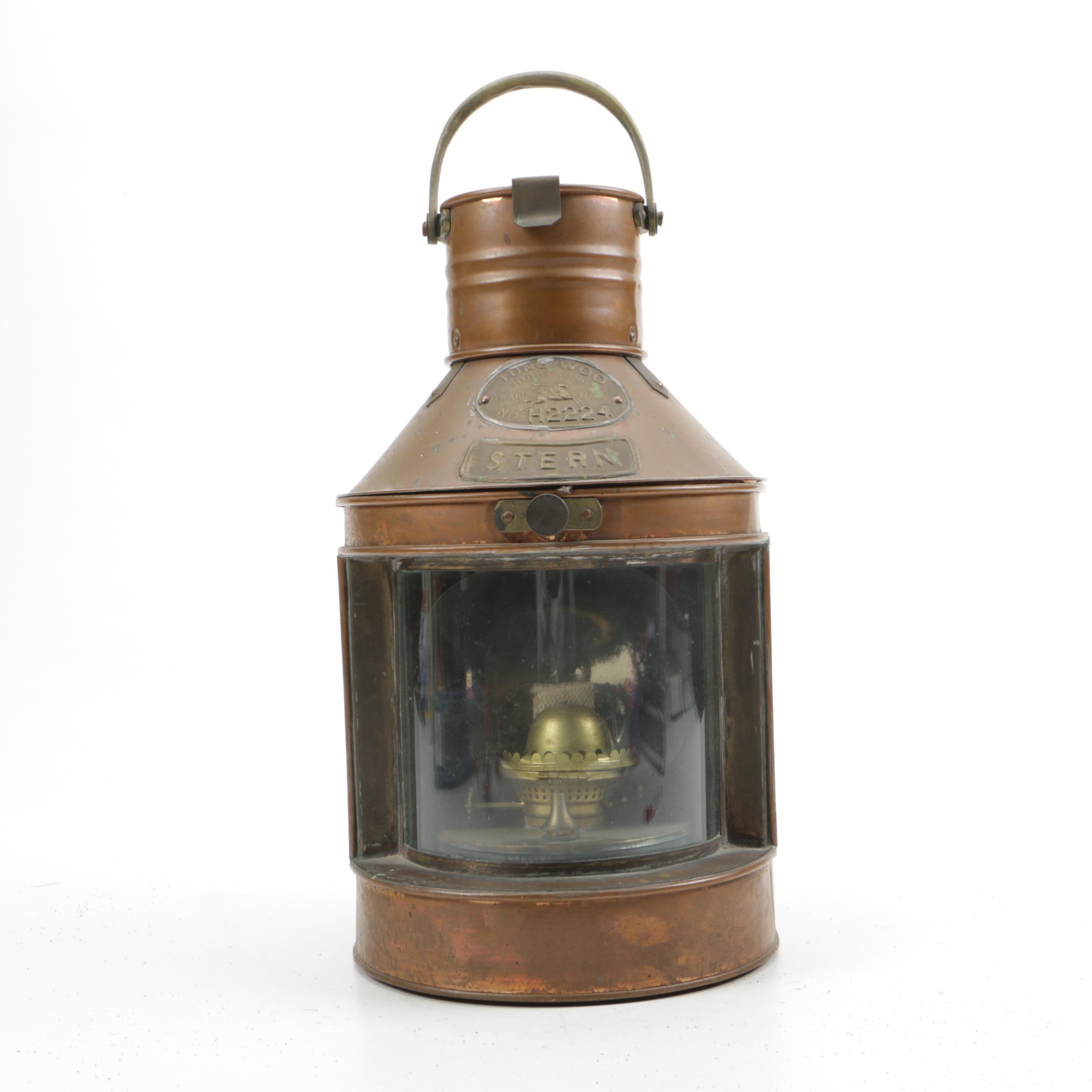 Chinese Tung Woo Brass Nautical Lantern