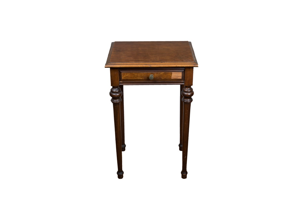 1920s Walnut End Table
