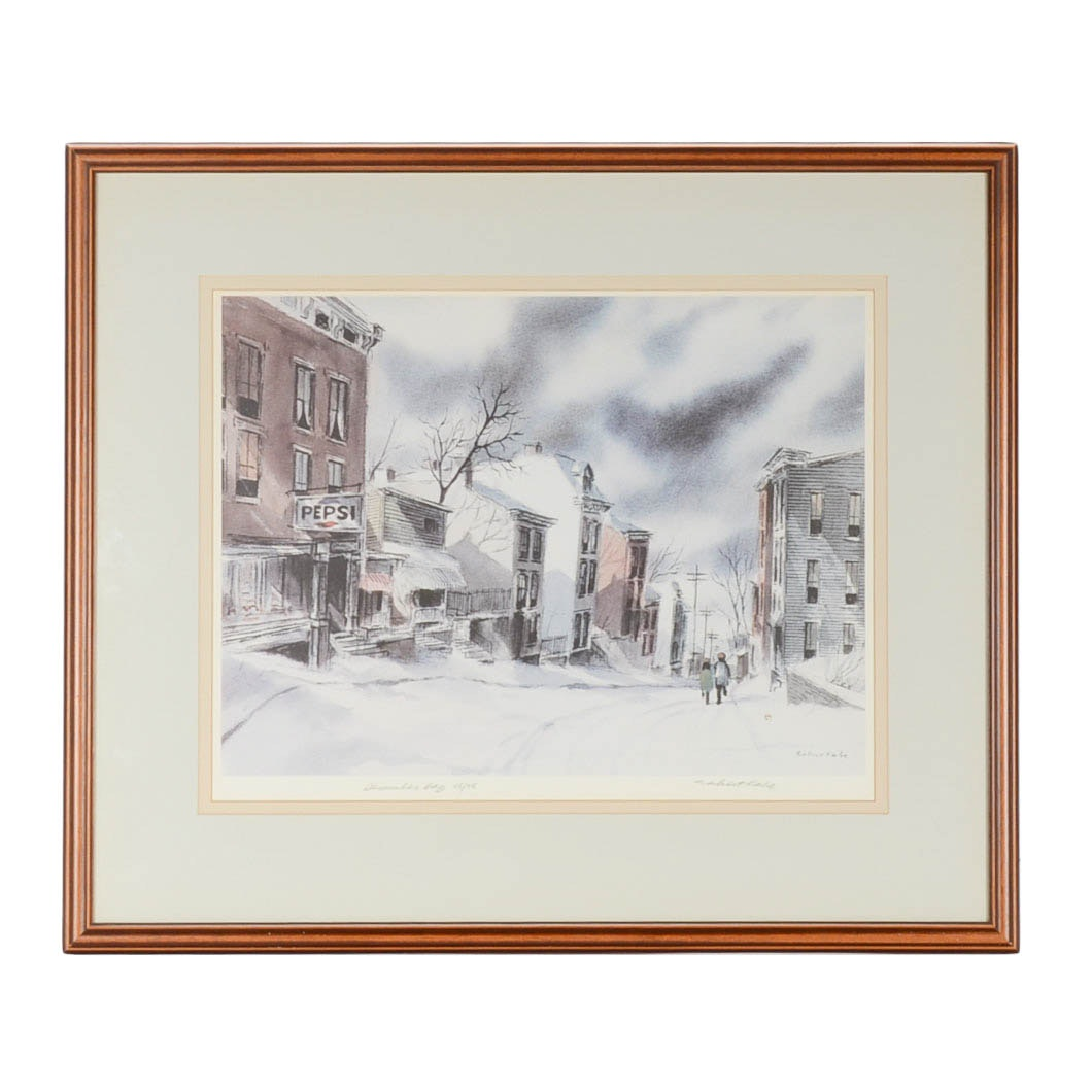 """Robert Fabe Signed Limited Edition Offset Lithograph after """"December Day"""""""