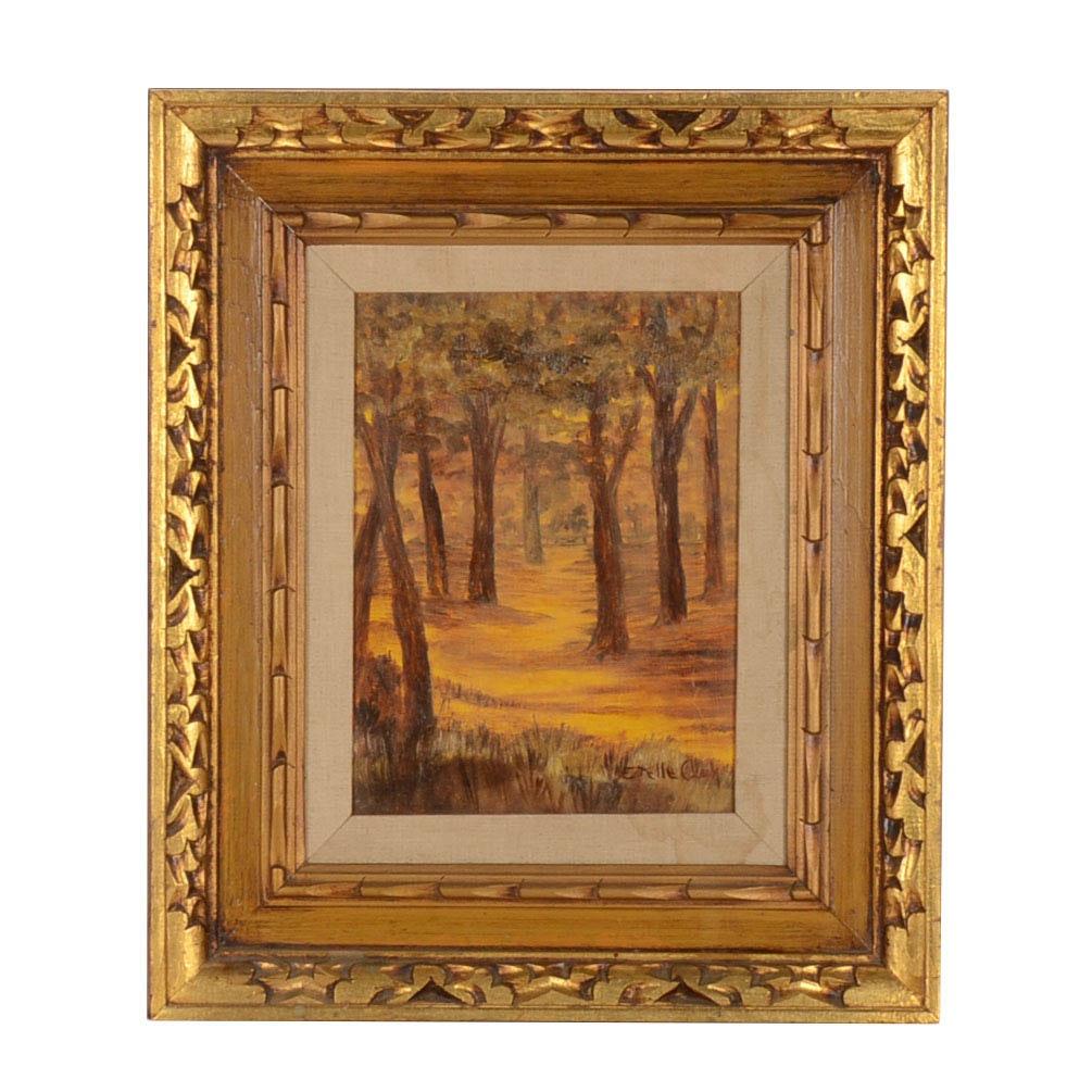 Estelle Clark Original Oil Painting on Board