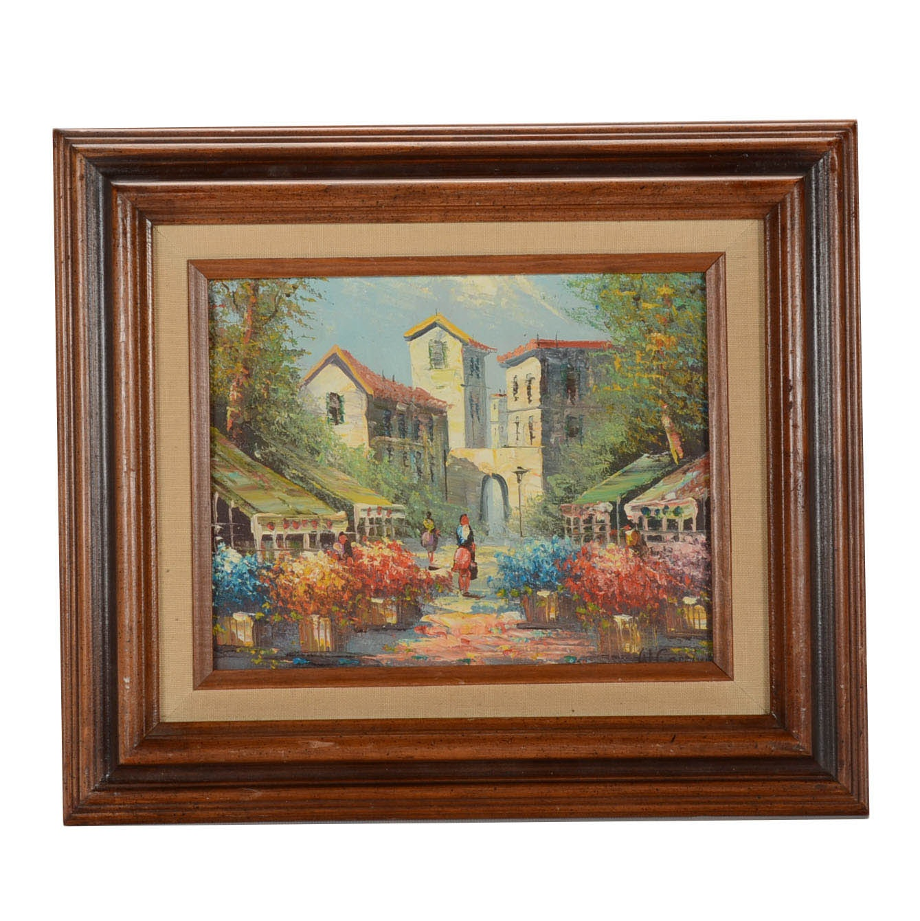 W. Corchy Original Vintage Oil Painting on Canvas