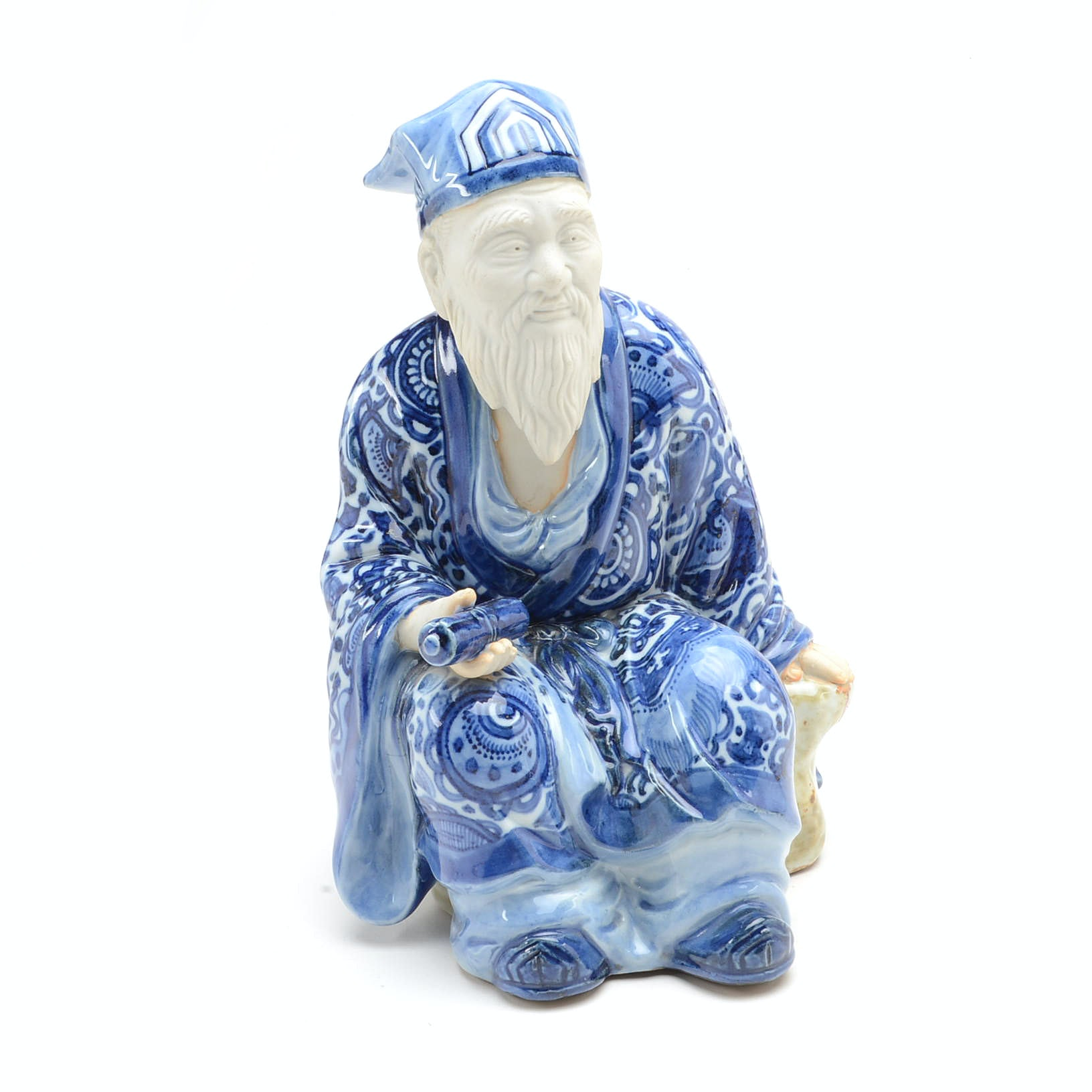 Ceramic Sculpture of a Chinese Scholar