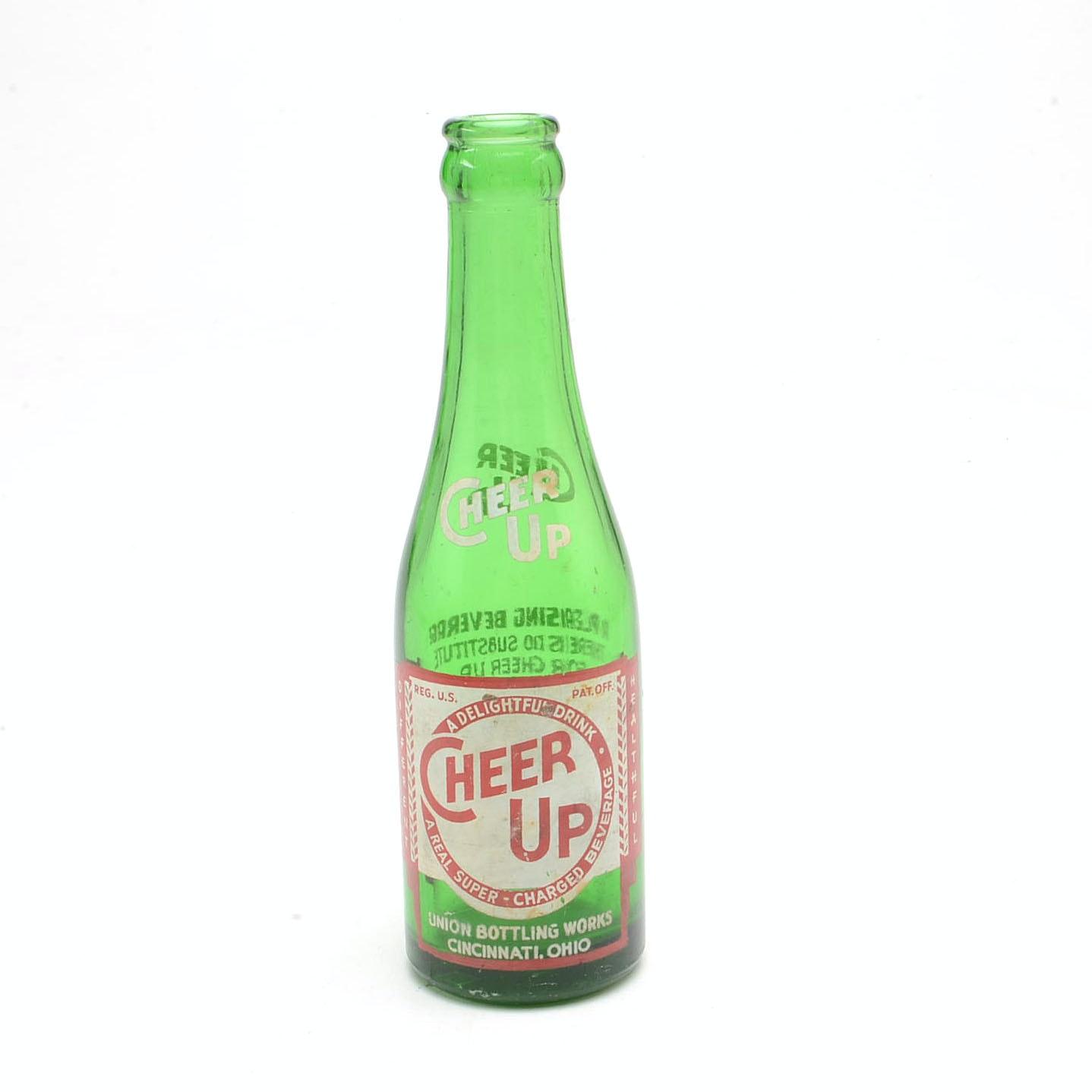 Vintage Cheer Up Soda Bottle