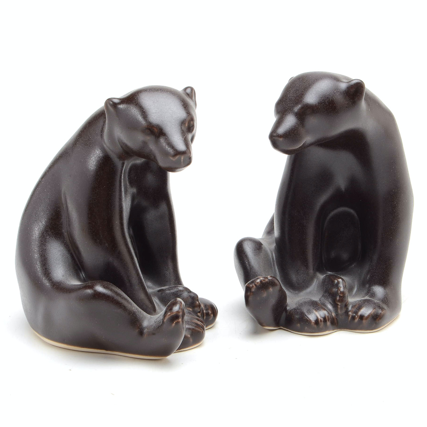 "Pair of Rookwood Art Pottery ""Abel Bear"" Figurines"