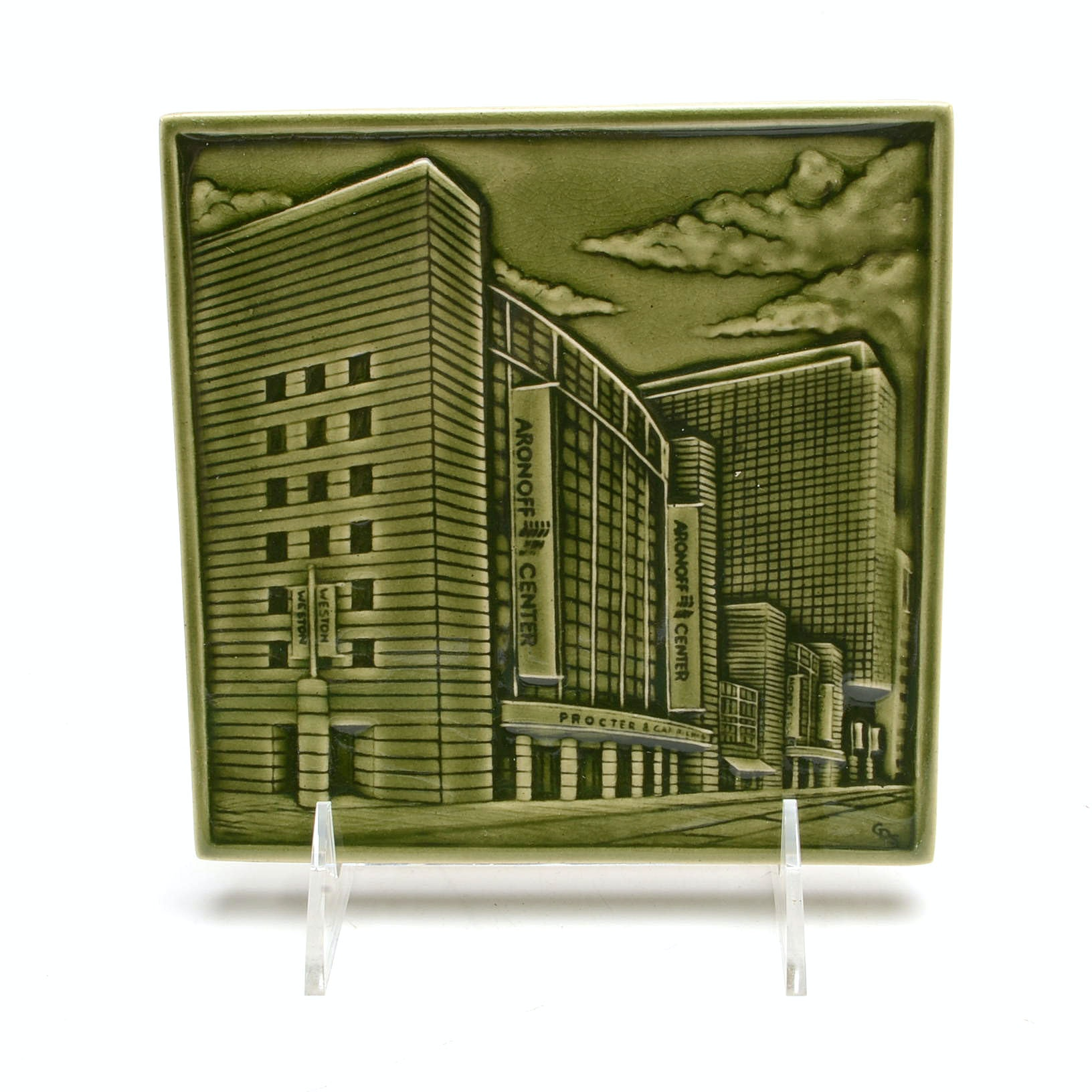 """Rookwood Pottery 1st Edition Commemorative """"Aronoff""""  Tile"""