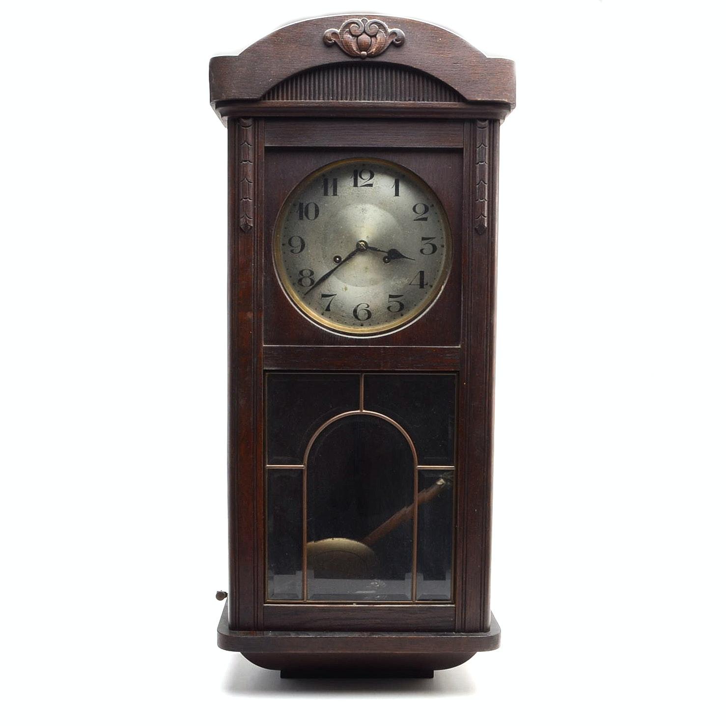 Antique Junghan's Walnut Wall Clock