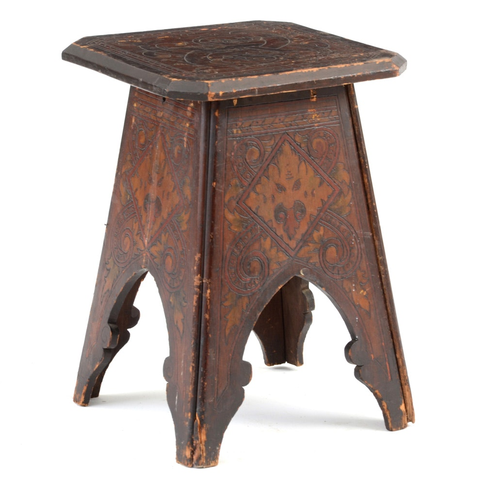 Antique Asian Style Low Table