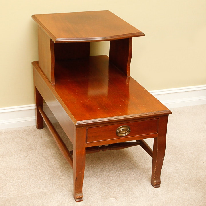Cherry Stained Step Back Table