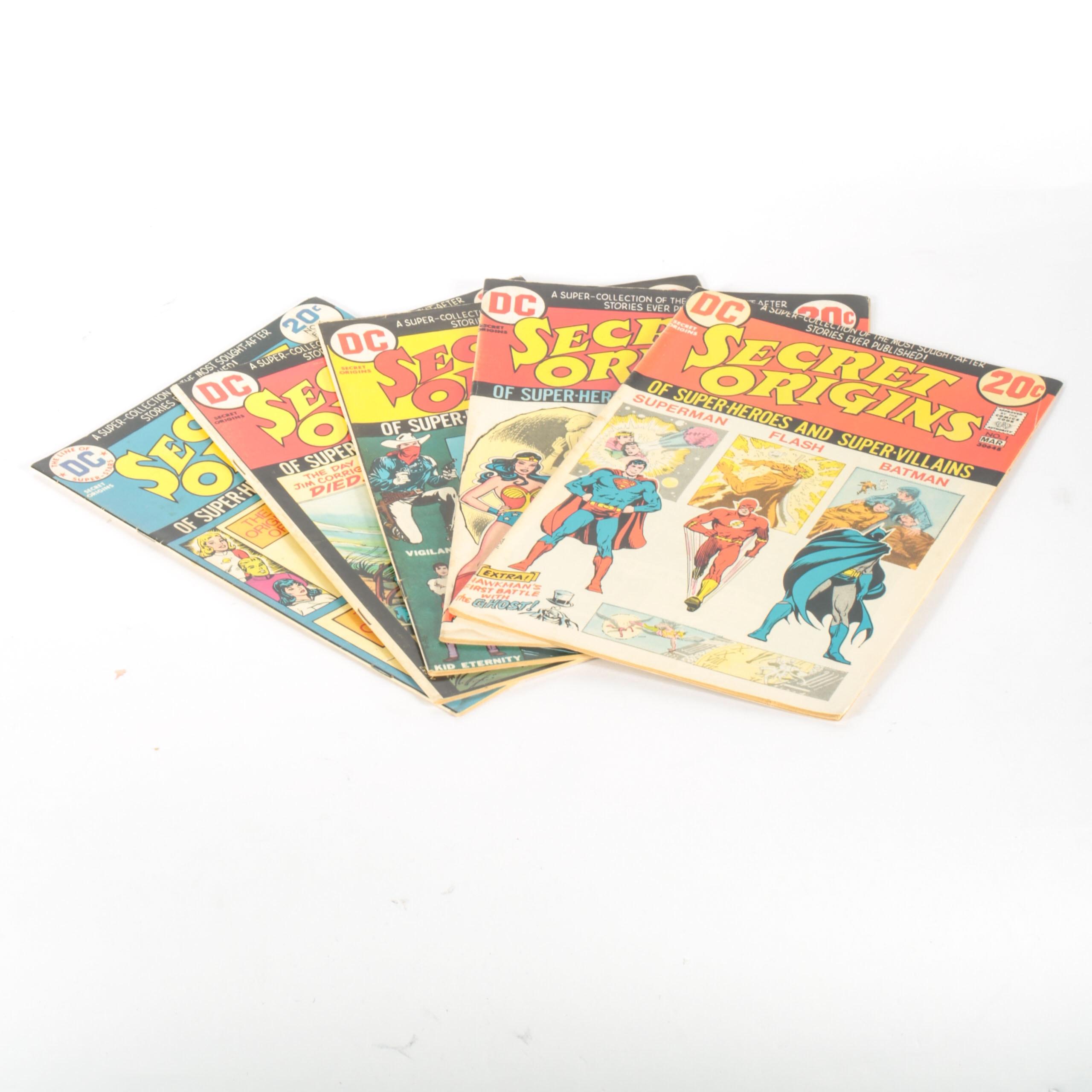 """Bronze Age DC's """"Secret Origins"""" Comics"""