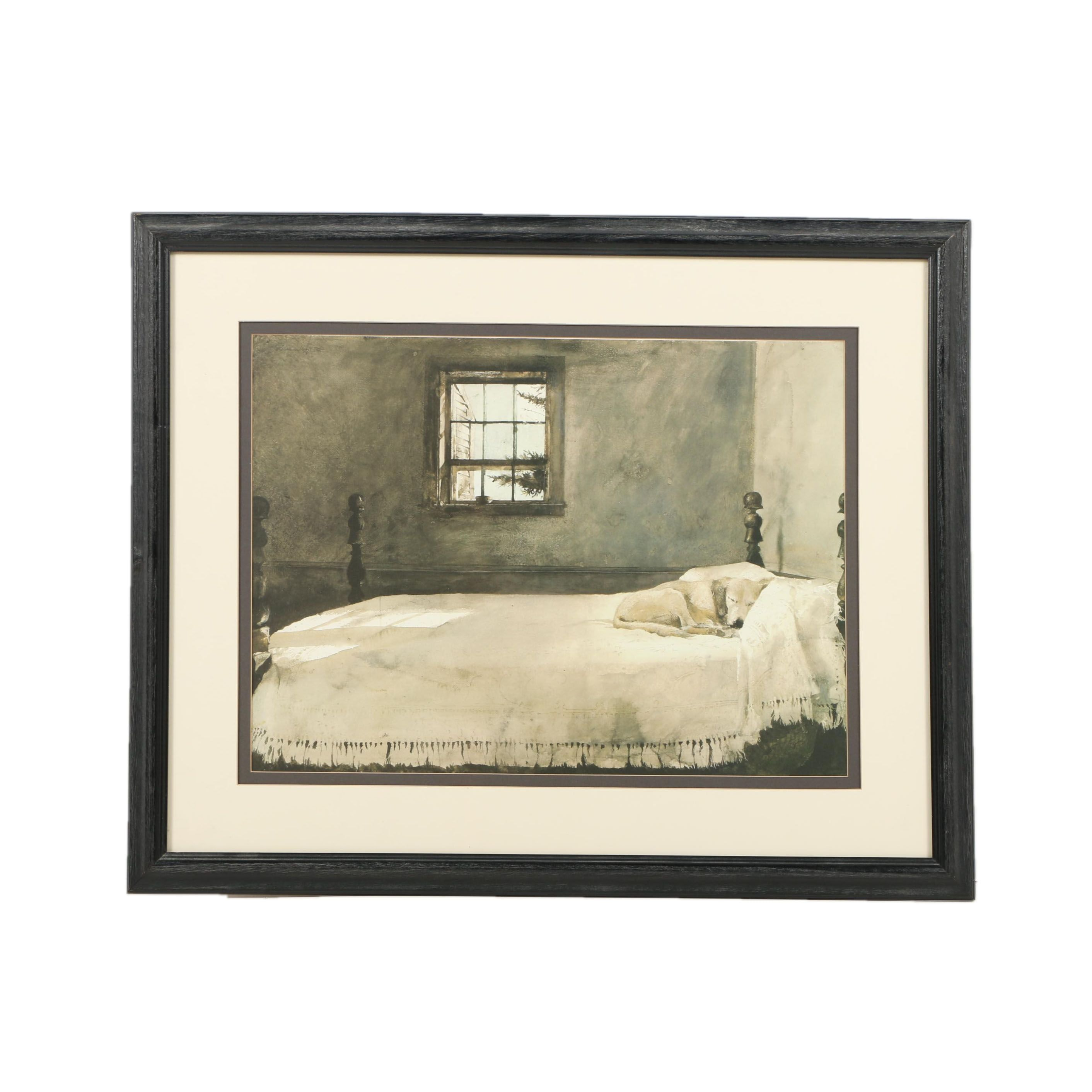 "Reproduction Print After Andrew Wyeth's ""Master Bedroom"""