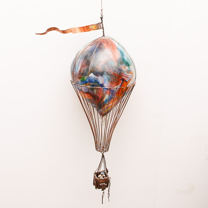 Mixed Media Hot Air Balloon Sculpture