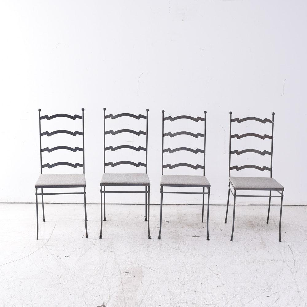 Mid Century Modern Gallo Original Iron Works Metal Side Chairs
