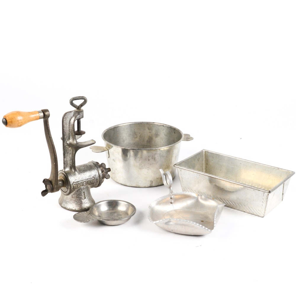 Vintage Silver Tone Kitchen and Decor Collection