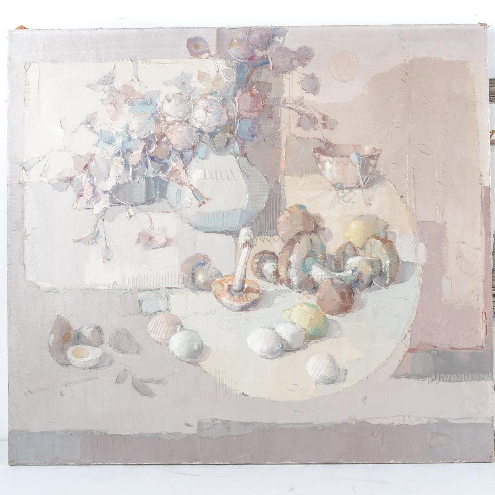 Franco Gnocchi Oil Still Life Painting on Canvas