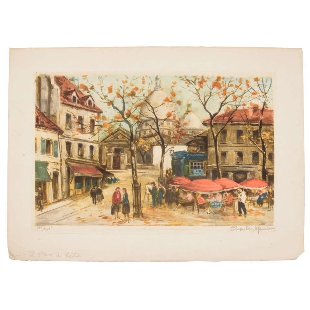 Signed Charles Mondin Limited Edition Lithograph
