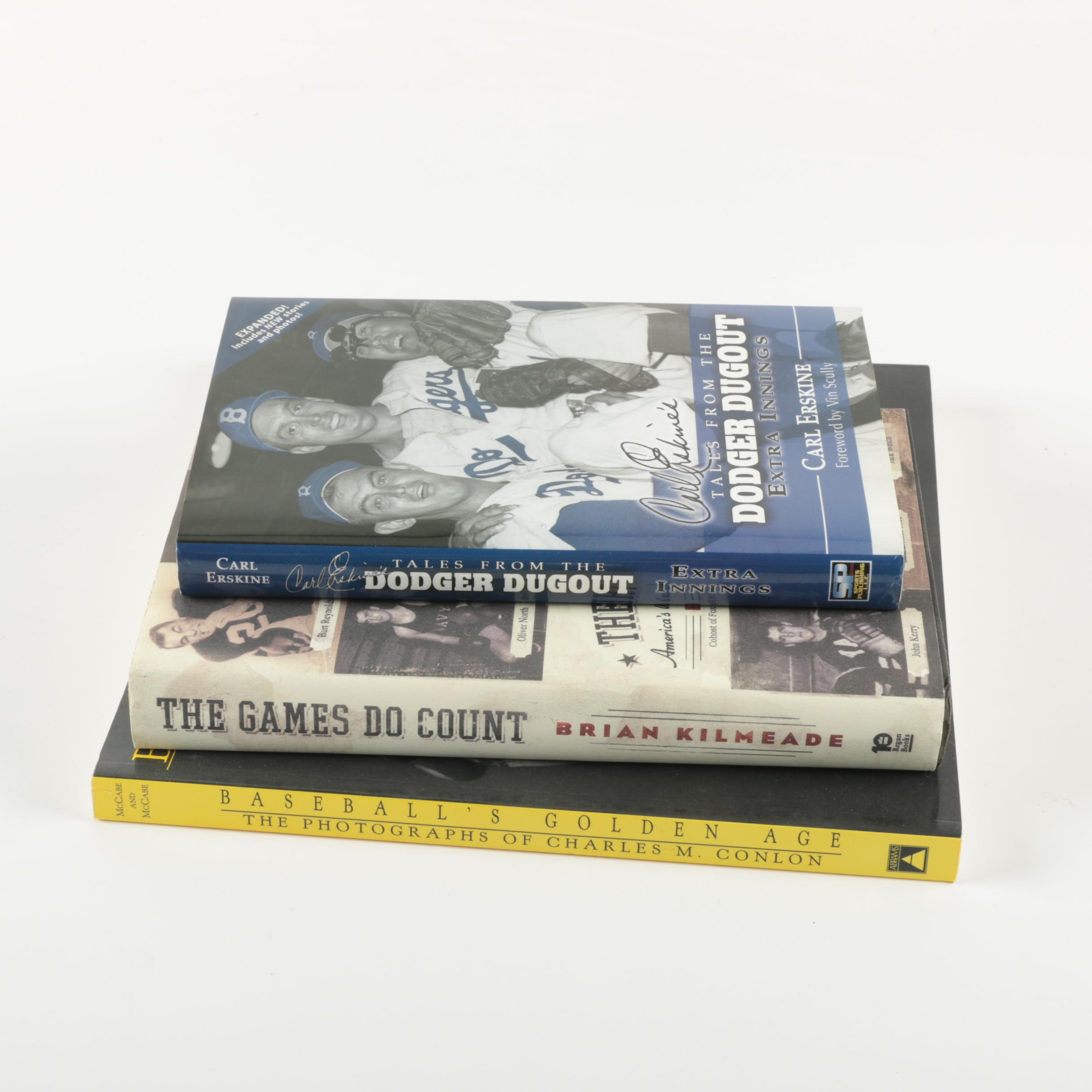 Baseball Books featuring Signed Copy by Carl Erskine