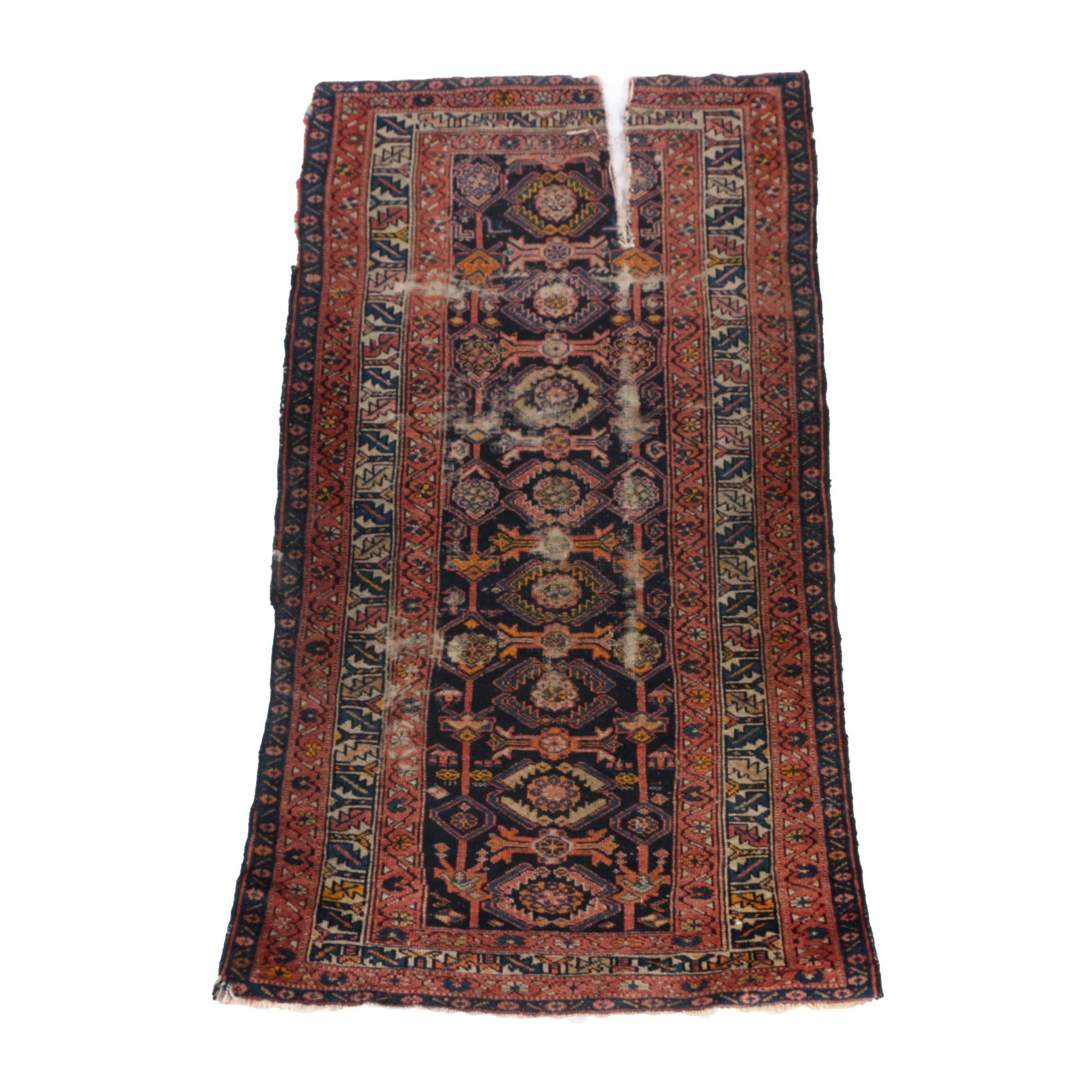 Vintage Hand-Knotted Persian Area Rug
