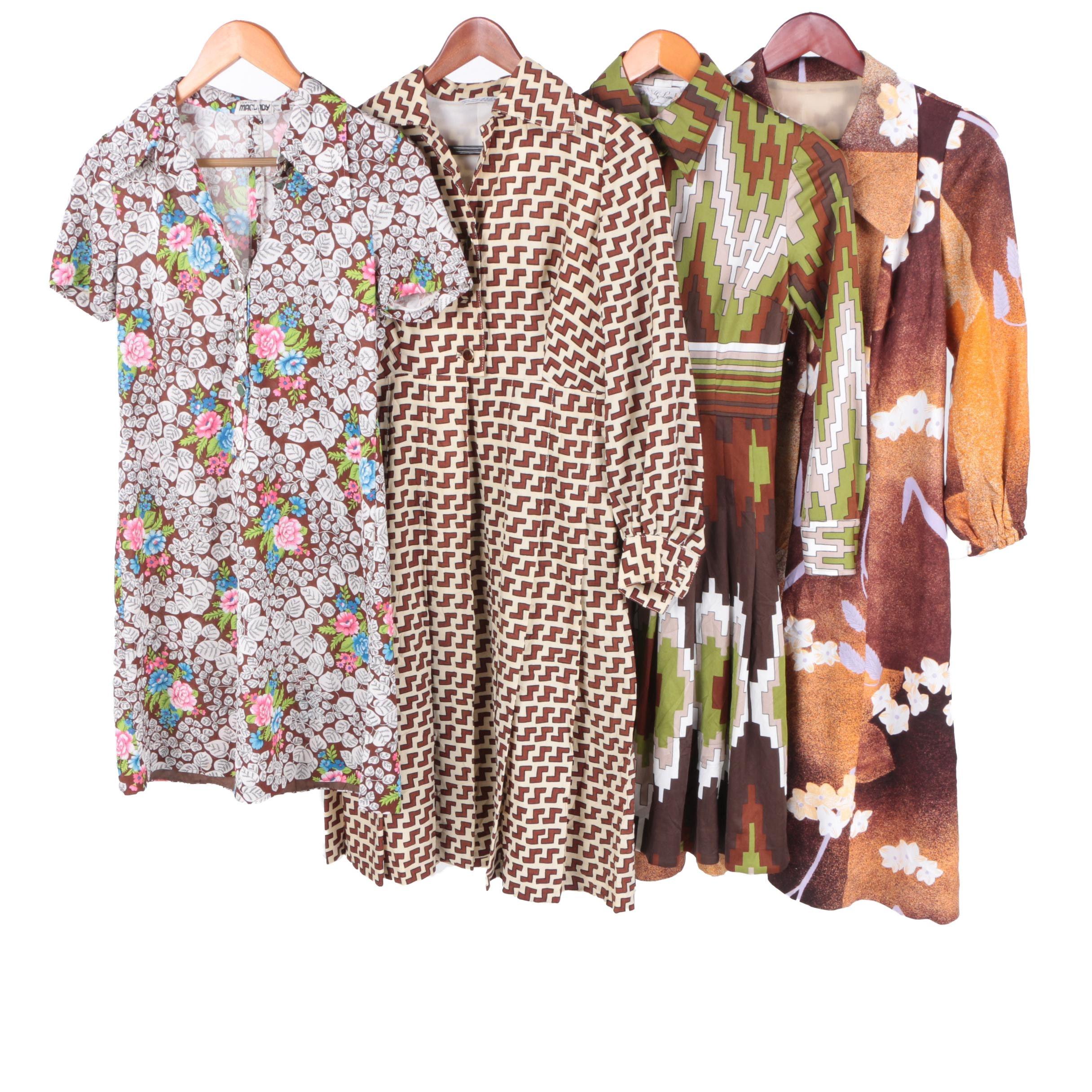Printed Dresses Including Circa 1970s Lily Mode Shop Kumamoto