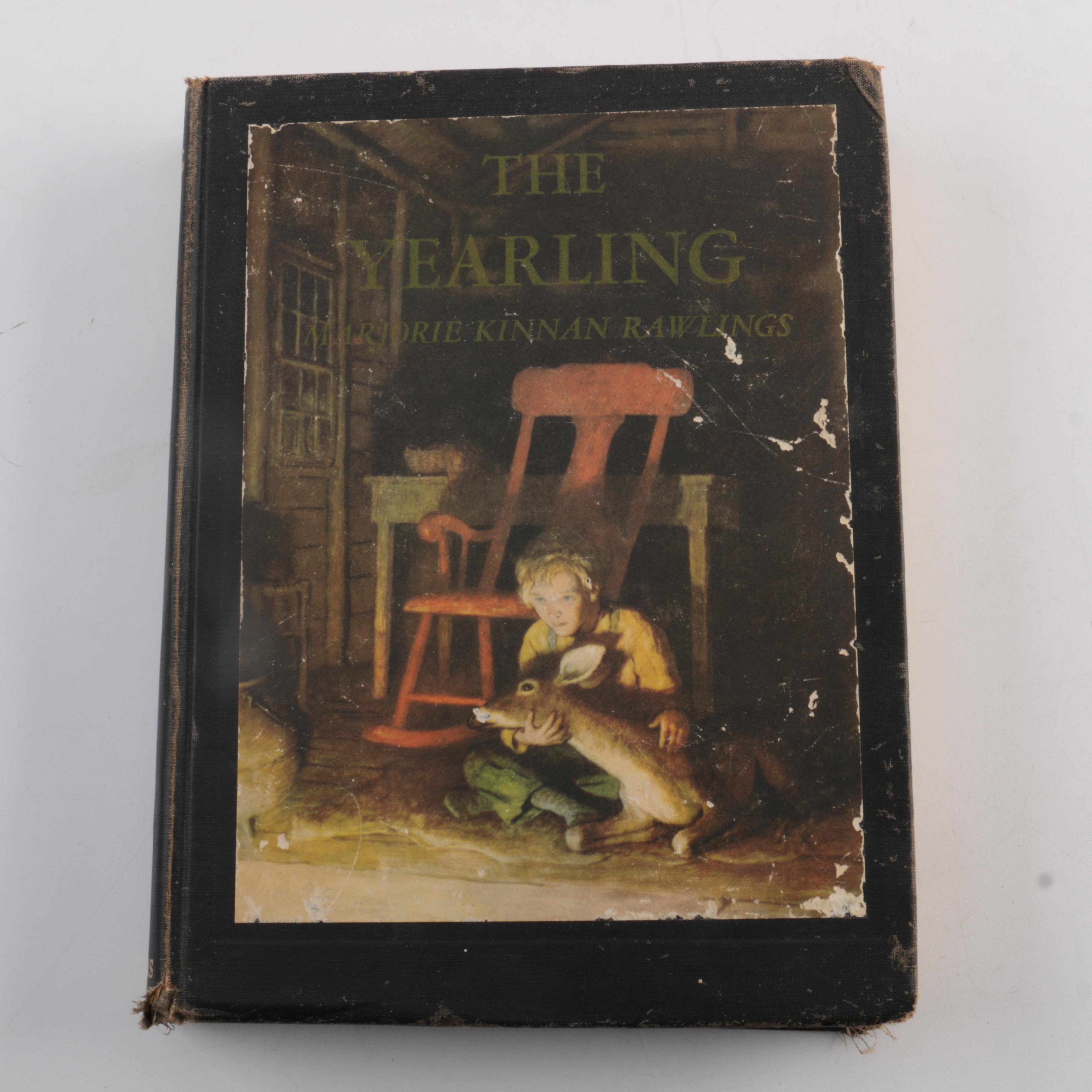 """1946 N. C. Wyeth Illustrated """"The Yearling"""" by Marjorie Kinnan Rawlings"""