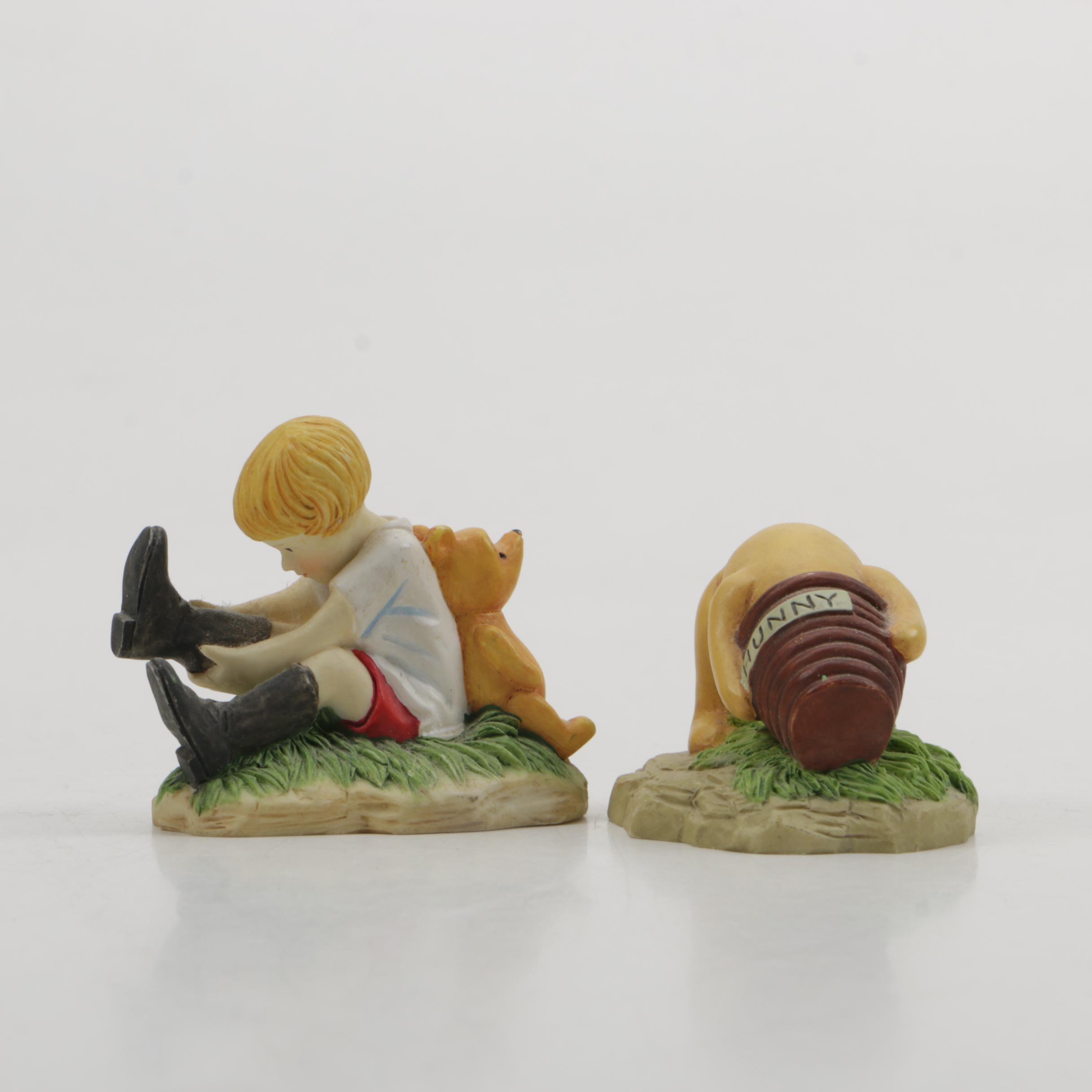 Pair of Lenox Winnie the Pooh Figurines